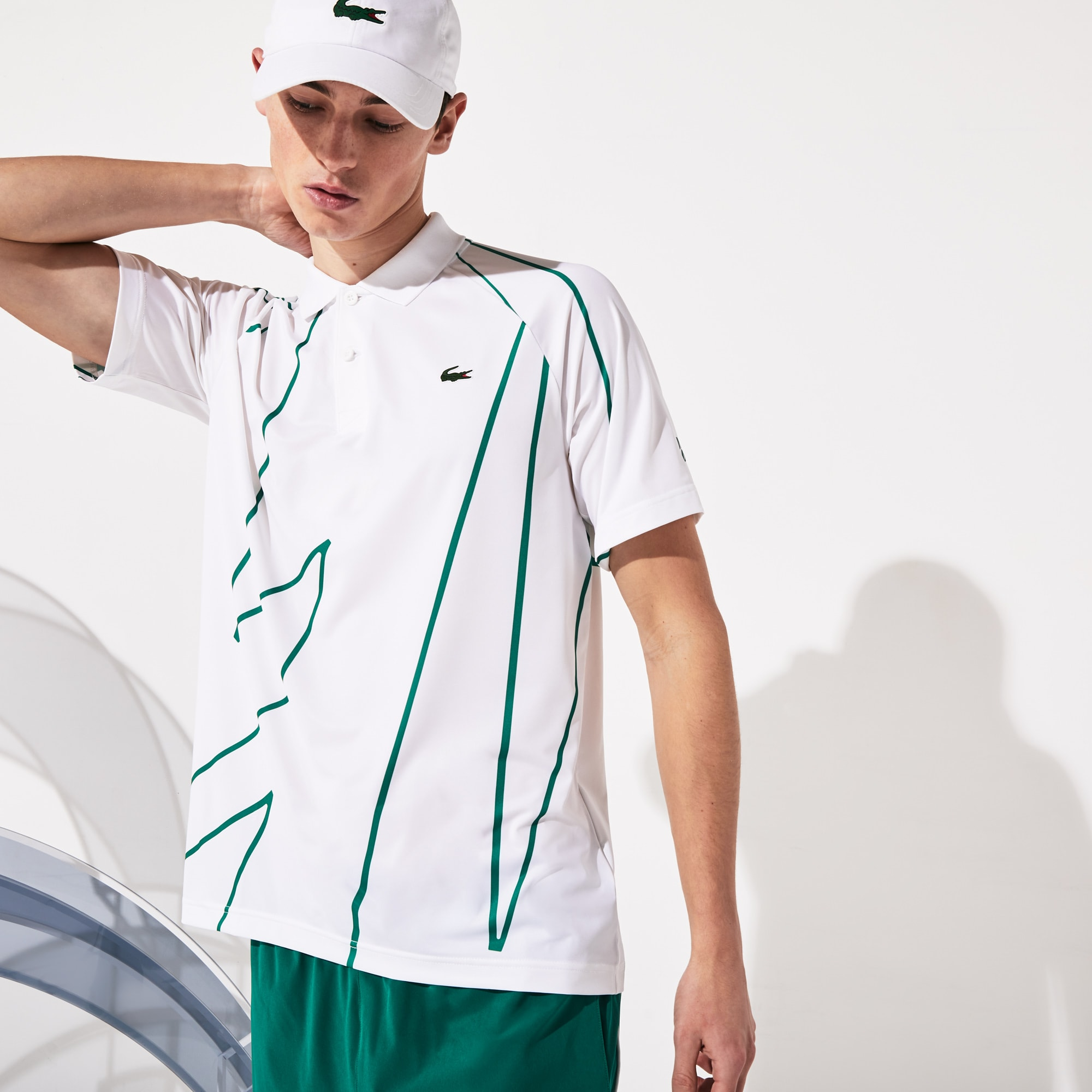 Atmungsaktives Herren-Poloshirt LACOSTE SPORT x Novak Djokovic