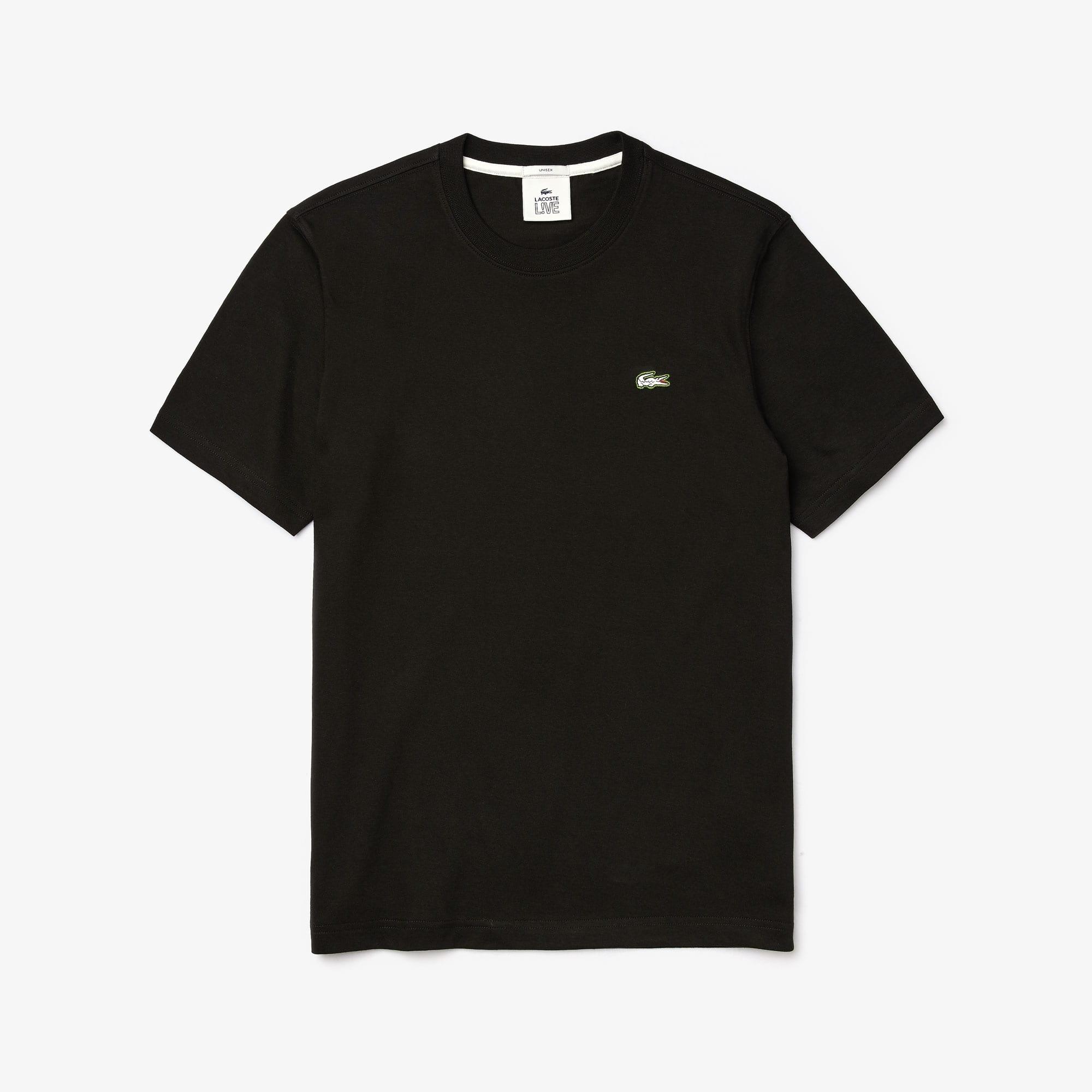 Unisex LACOSTE L!VE Baumwoll-T-Shirt