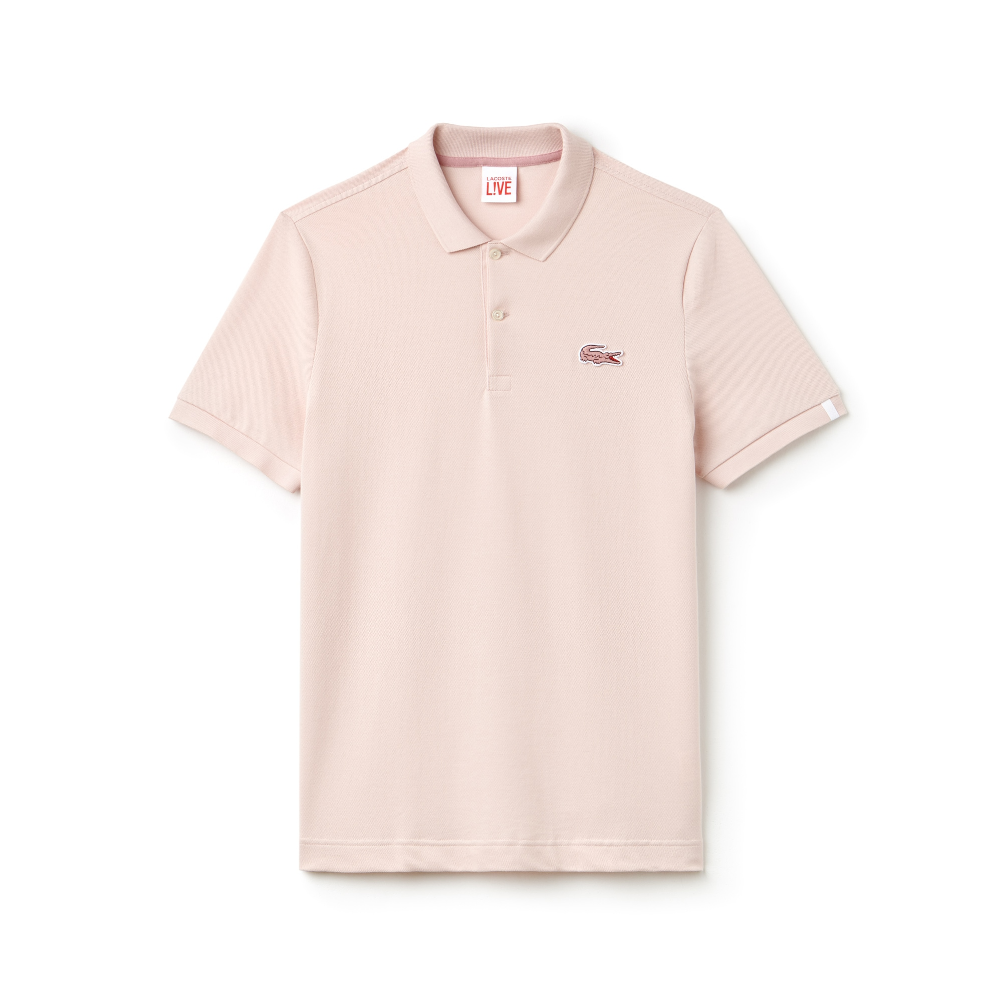 Slim Fit Herren-Poloshirt aus Mini-Piqué mit Stretch LACOSTE L!VE