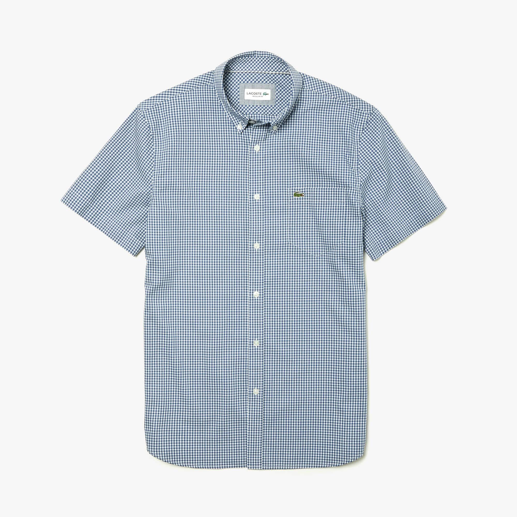 Herren Regular Fit Hemd mit Karomuster