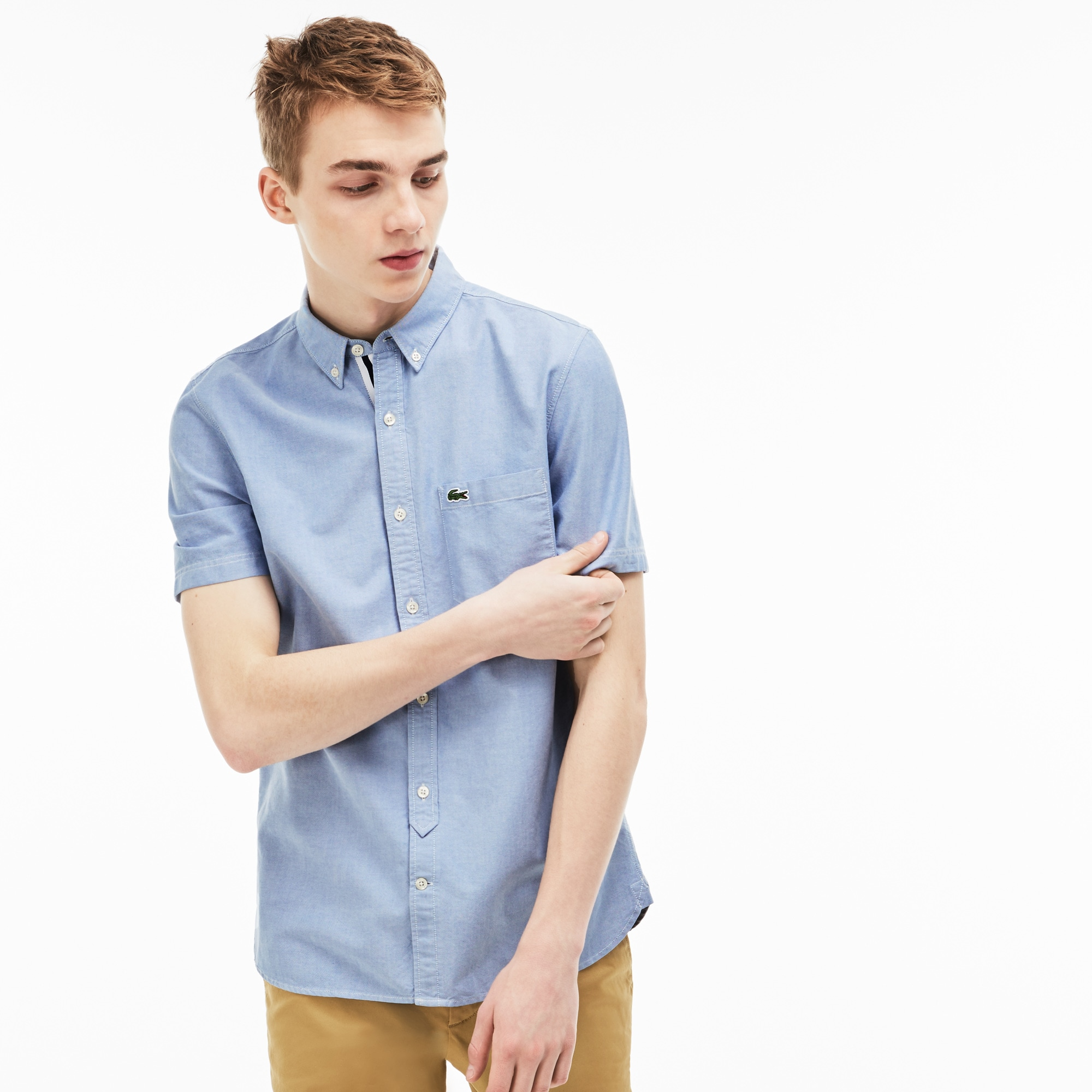Herren-Bluse aus Oxford-Baumwolle LACOSTE L!VE