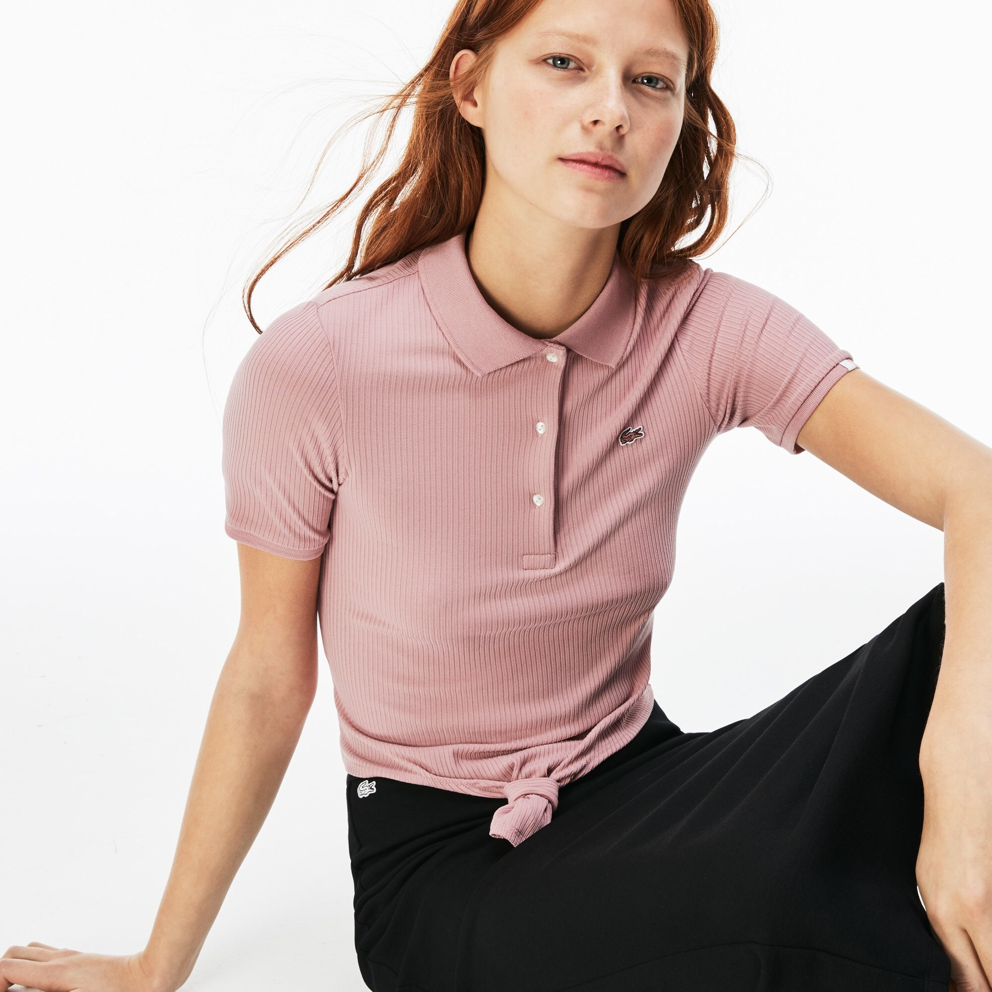 Damen LACOSTE LIVE Stretch-Slim Fit Poloshirt