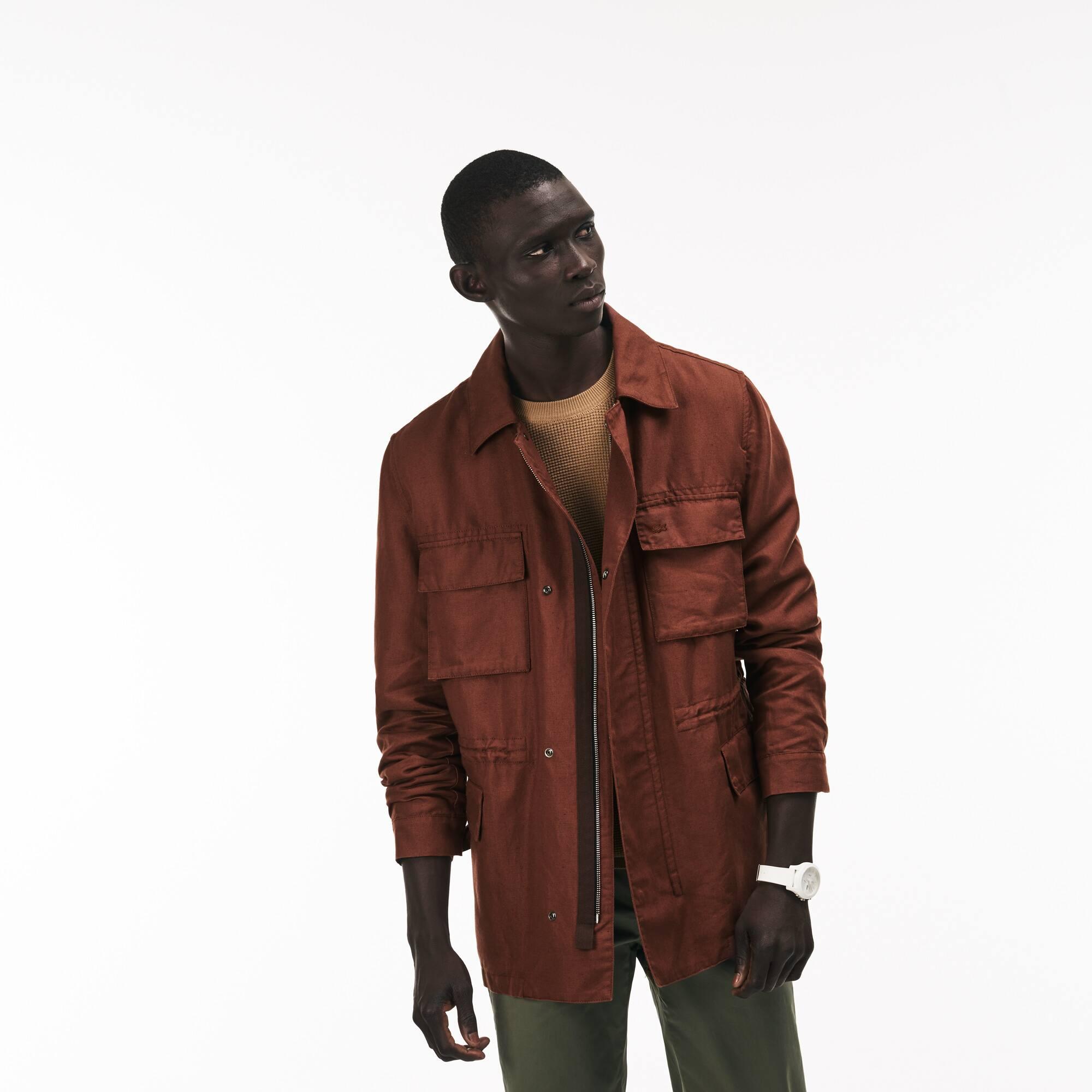 Herren anpassbare Canvas Jacke mit verschiedenen Taschen