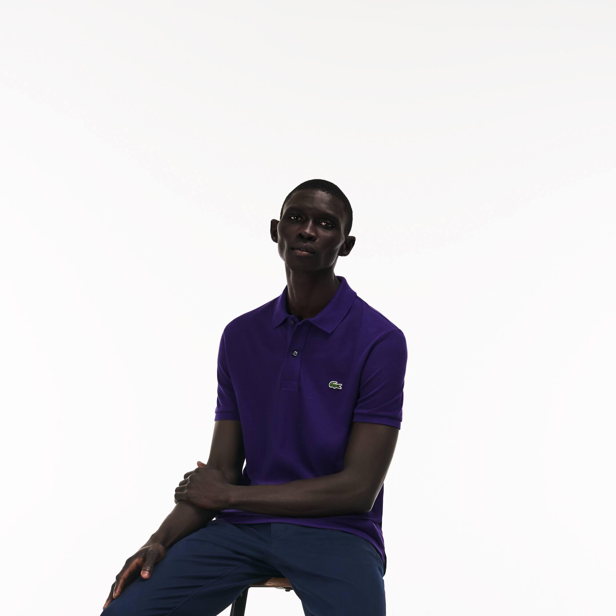 Slim Fit Lacoste-Polo aus Petit Piqué