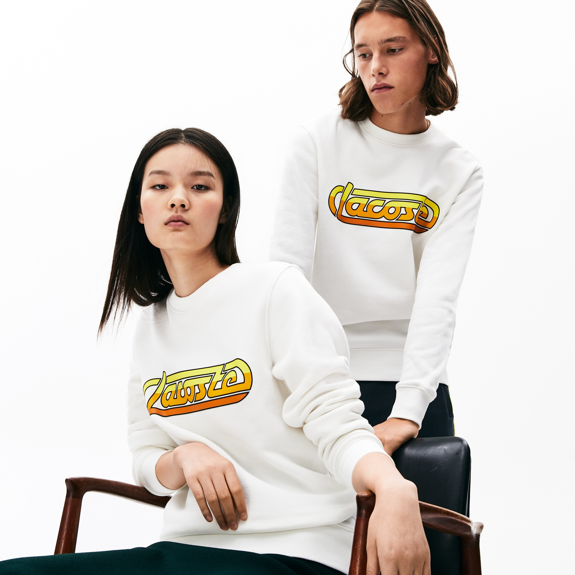 Unisex LACOSTE L!VE kultiges Fleece-Sweatshirt