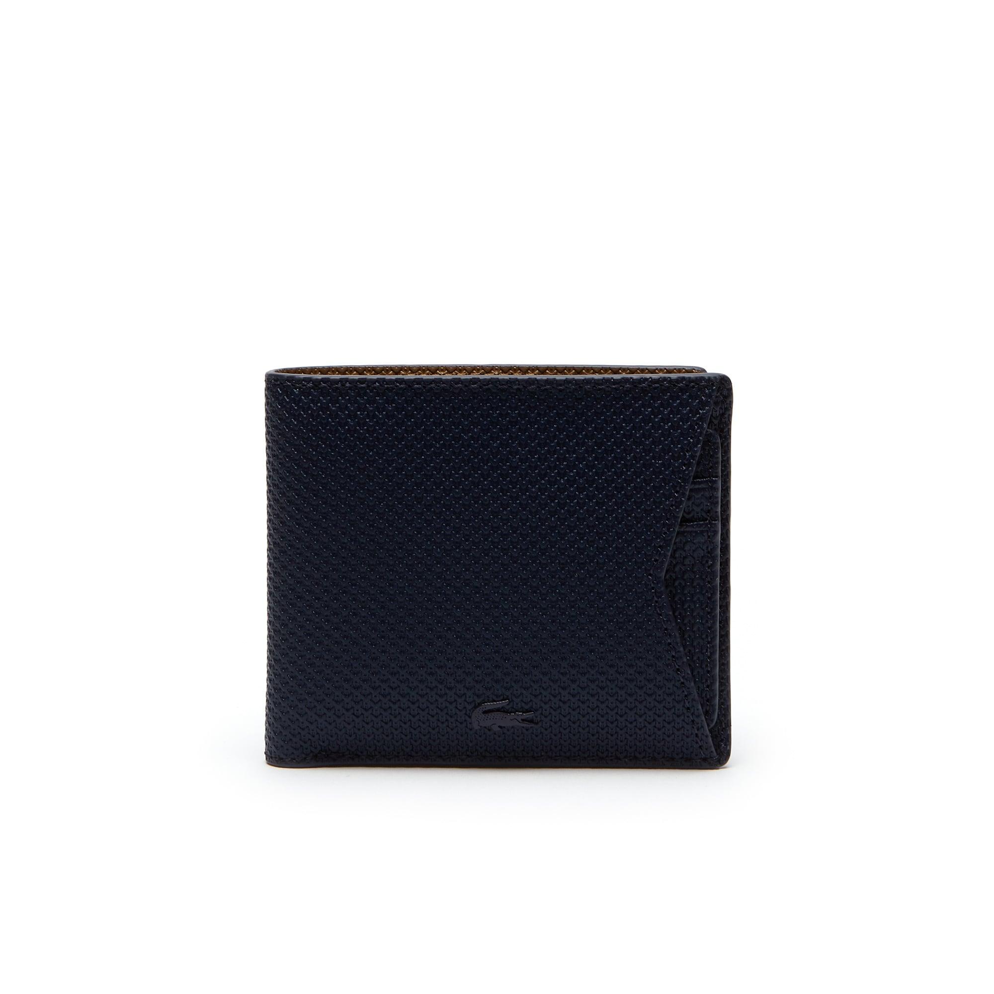 Herren Chantaco Flache Brieftasche Beschichtetes Leder Einfarbig mit Kart Halter
