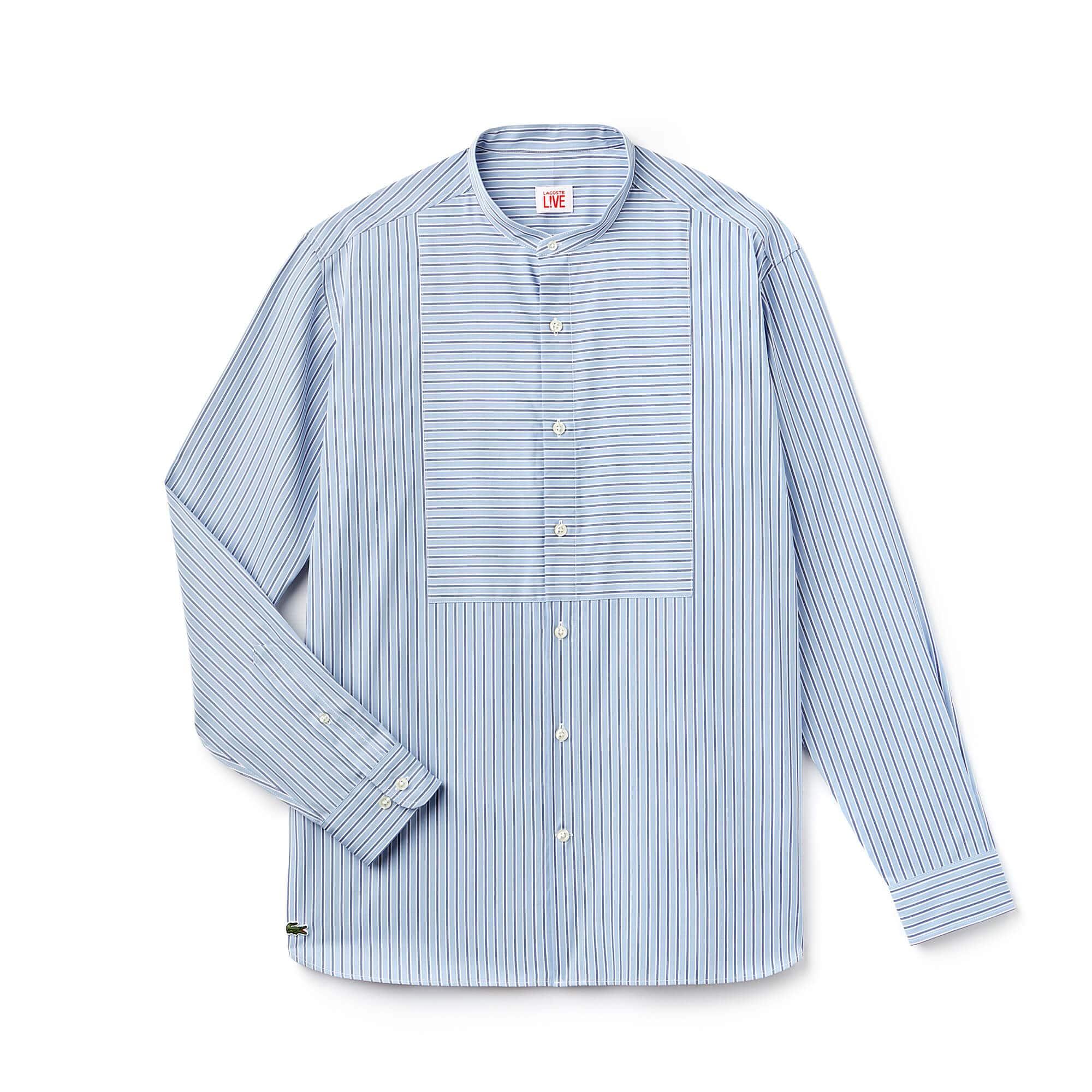 Boxy Fit Herren-Hemd aus gestreifter Popeline LACOSTE L!VE