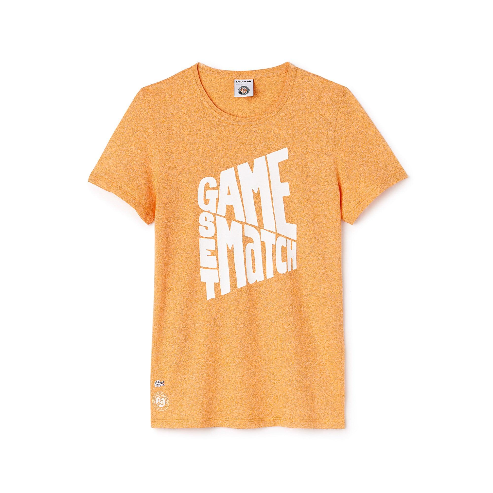 Damen LACOSTE SPORT Roland Garros Edition Design-Jersey-T-Shirt