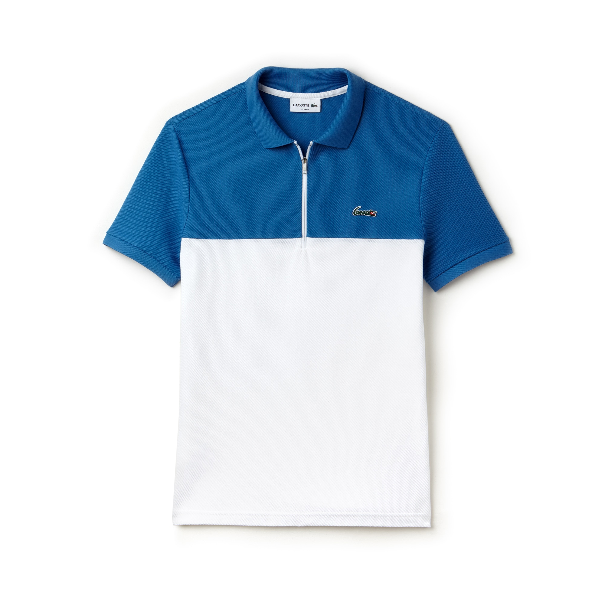 Herren LACOSTE Slim Fit Poloshirt mit Colorblocks