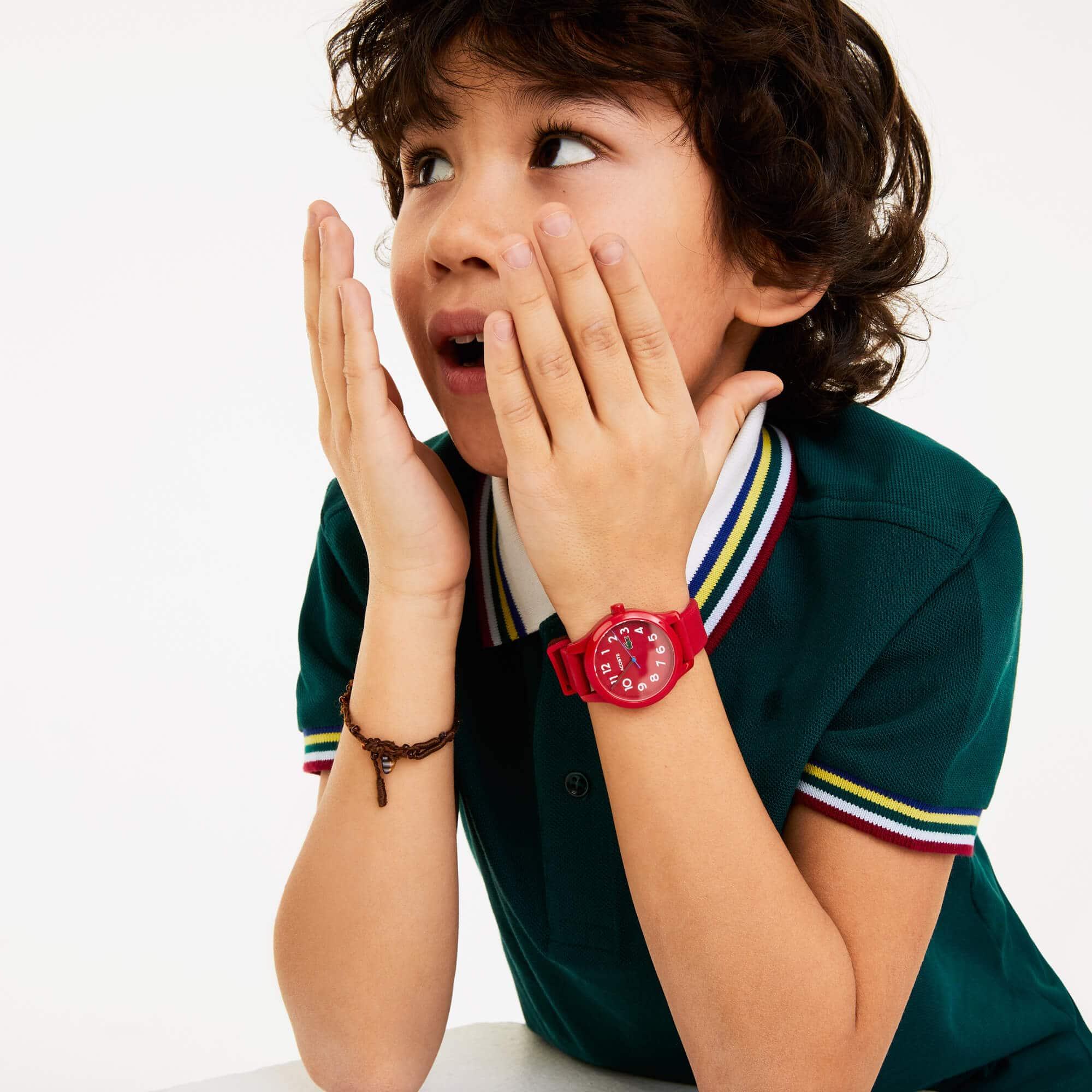 LACOSTE 12.12 Kinderuhr mit rotem Silikonband