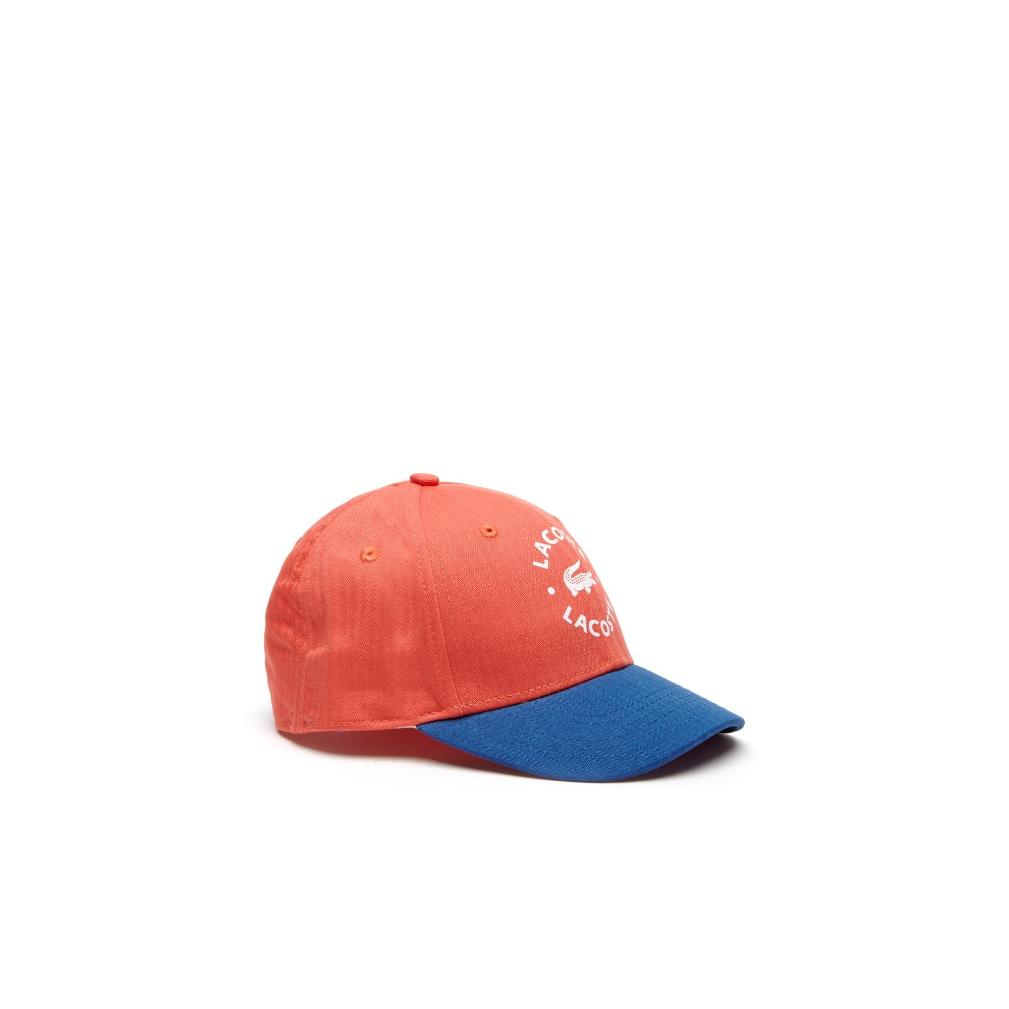 Jungen-Kappe aus zweifarbiger Gabardine mit LACOSTE-Schriftzug