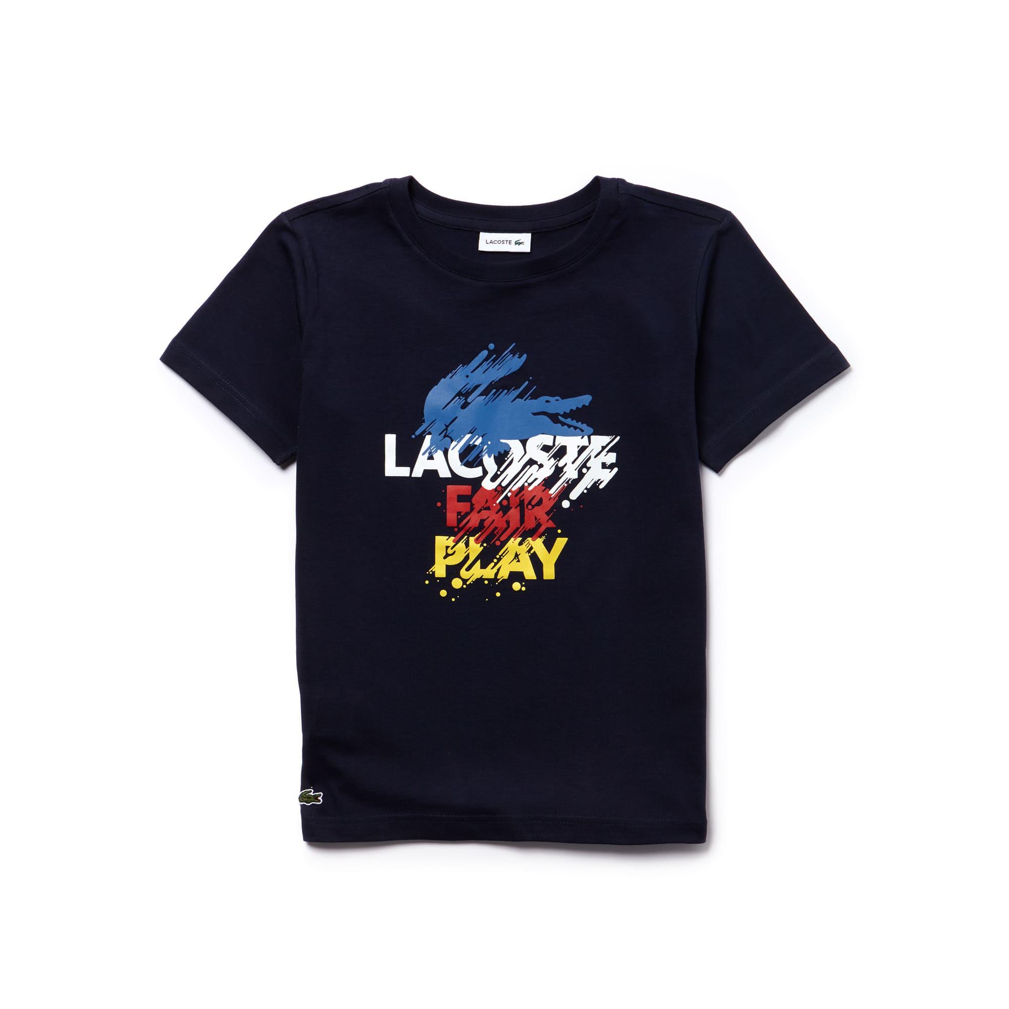 Jungen-T-Shirt aus Jersey mit buntem Druckmotiv