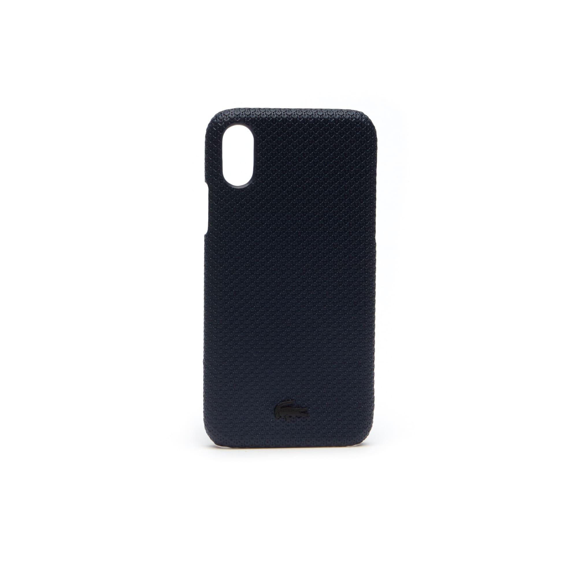 Herren CHANTACO iPhone X Hülle aus Piqué-Leder