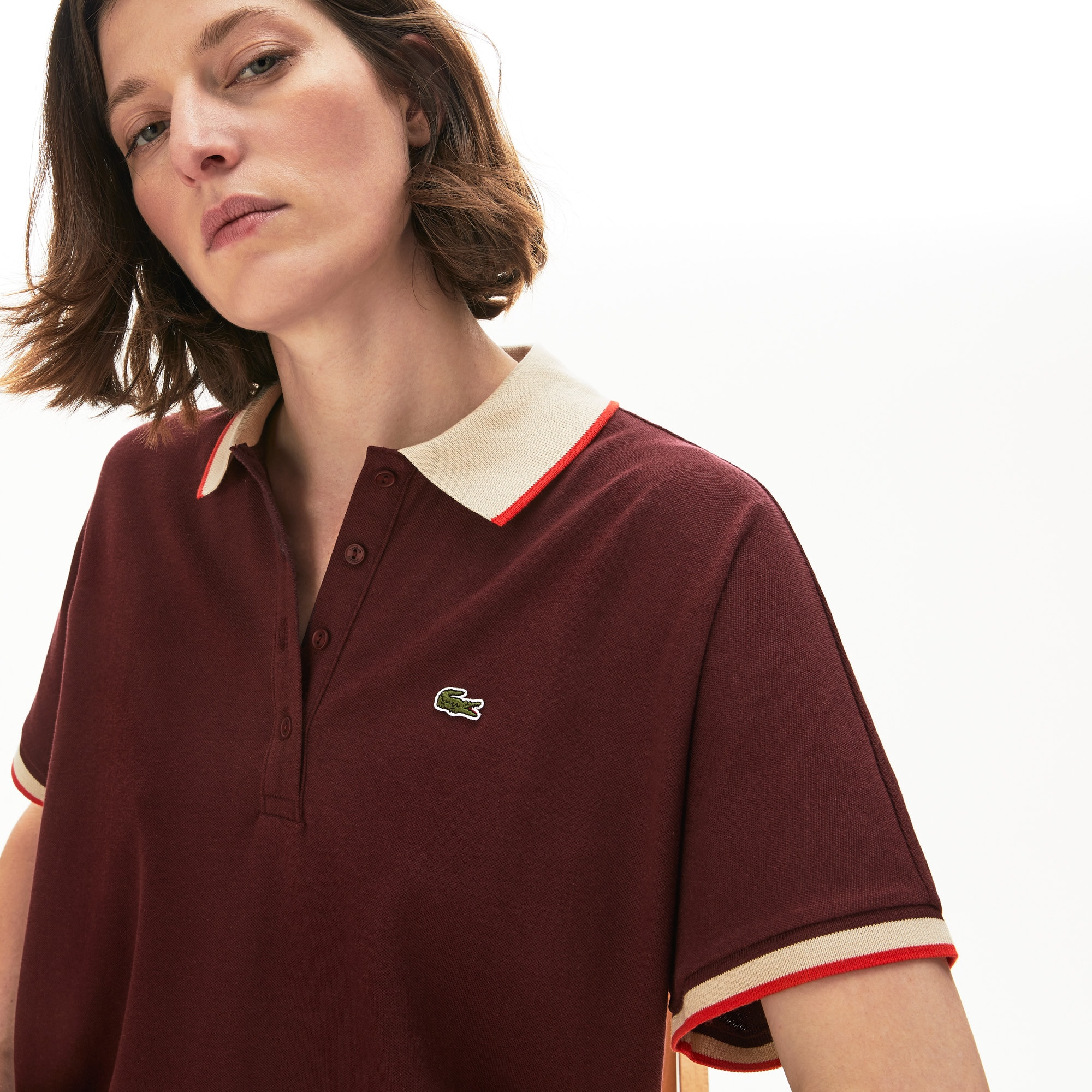 Damen LACOSTE Poloshirt in Relax Fit