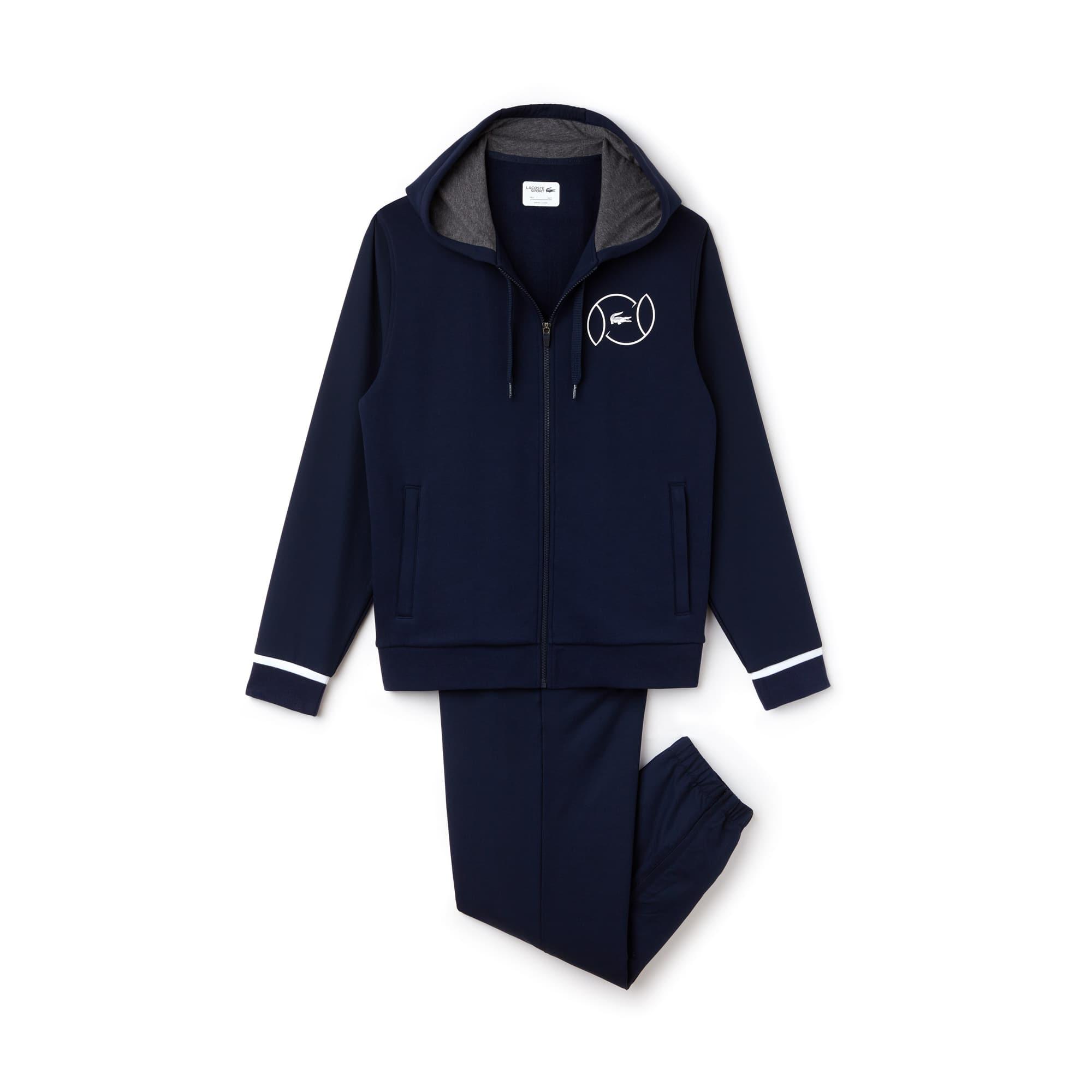 Herren LACOSTE SPORT Fleece und Taft Tennis-Trainingsanzug