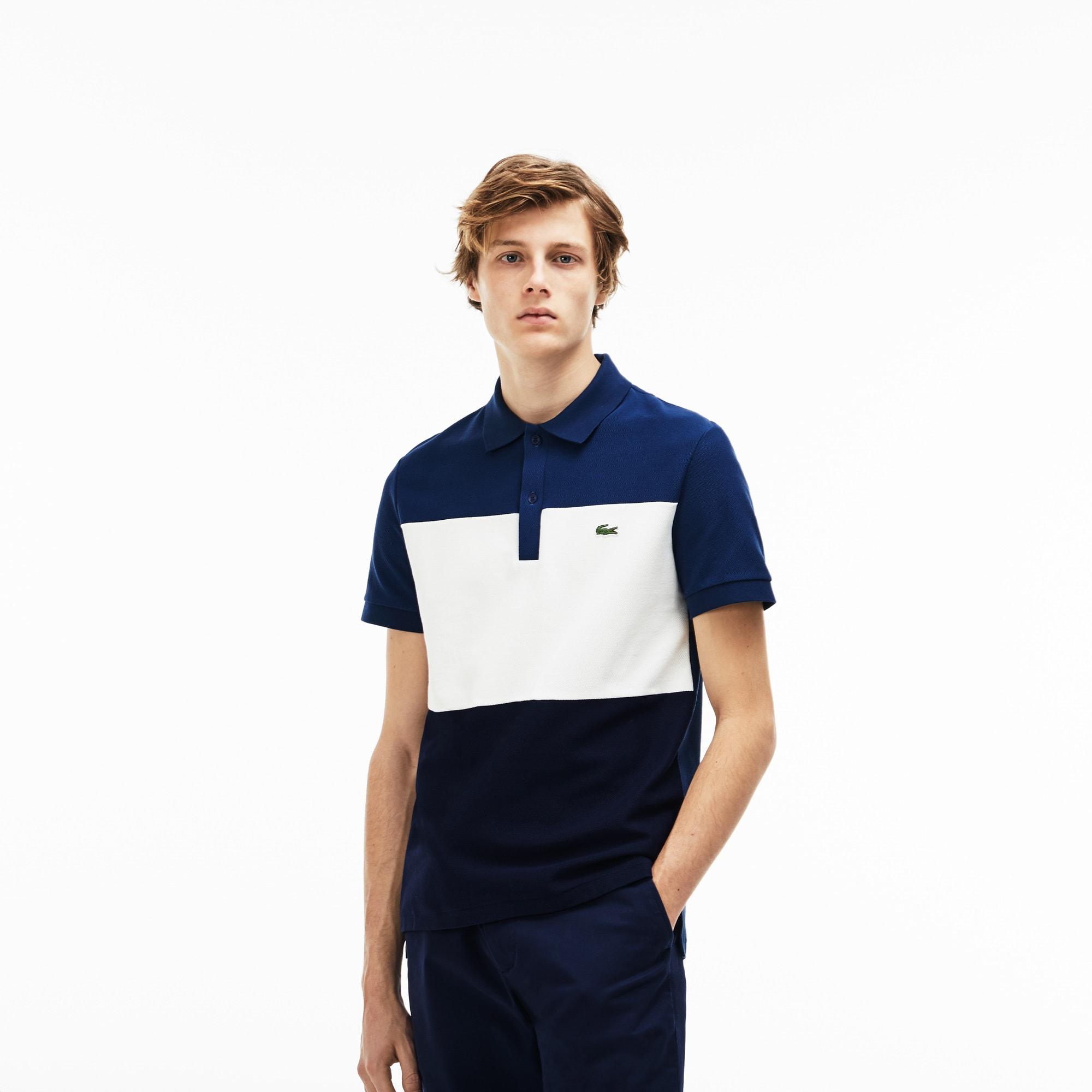 Regular Fit Herren-Polo aus Baumwollpiqué mit Colorblock LACOSTE