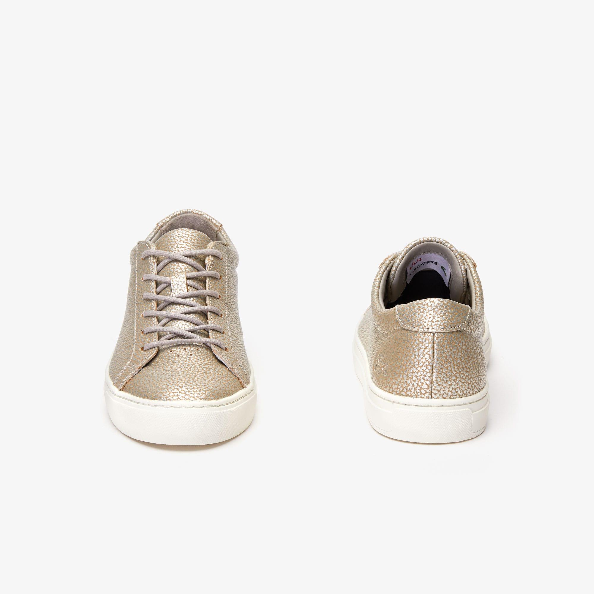 L Sneakers 12 En Femme Métallisé 12 Cuir CedxBo