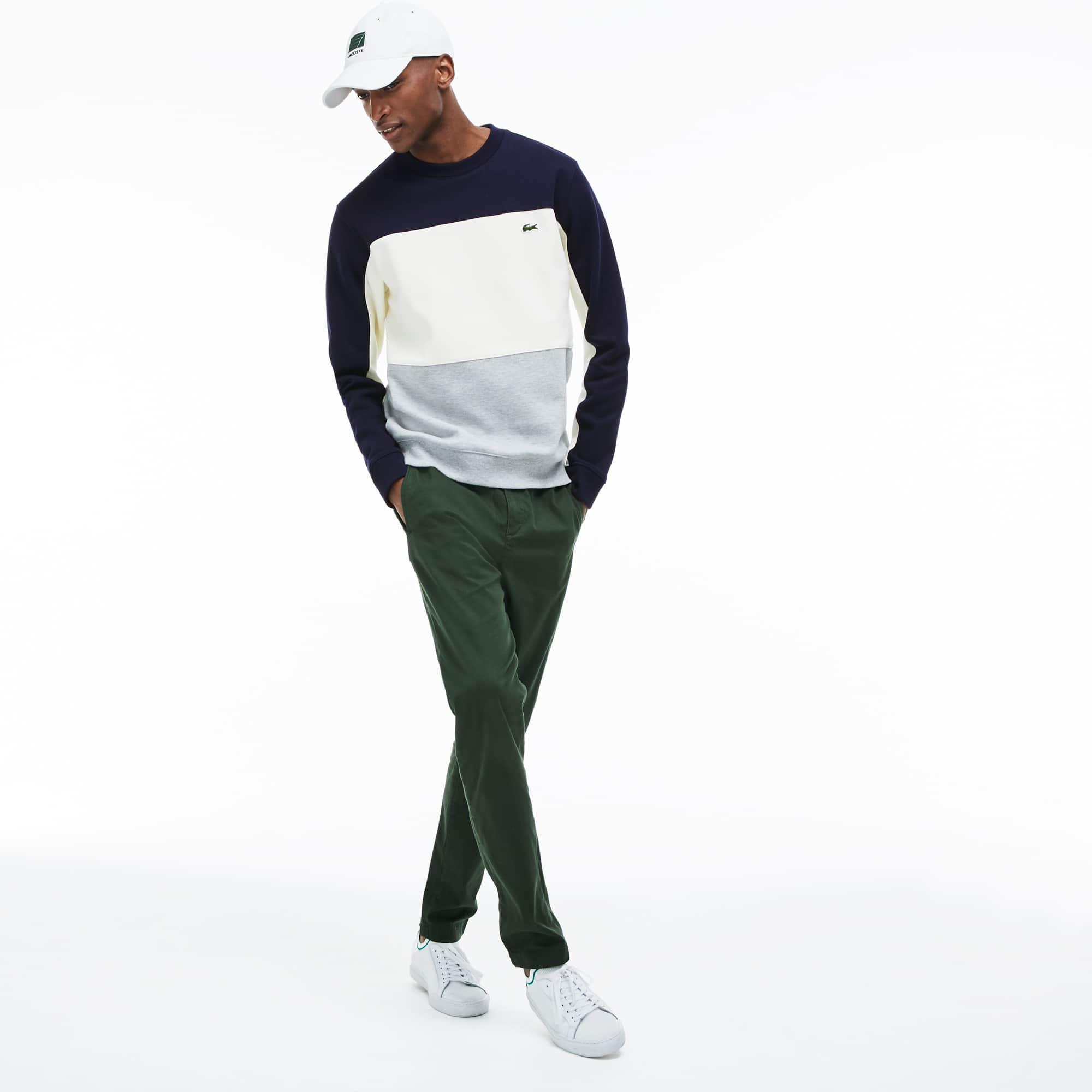 En Rond Color Piqué Block Sweatshirt Col Molleton DHI2Y9WE
