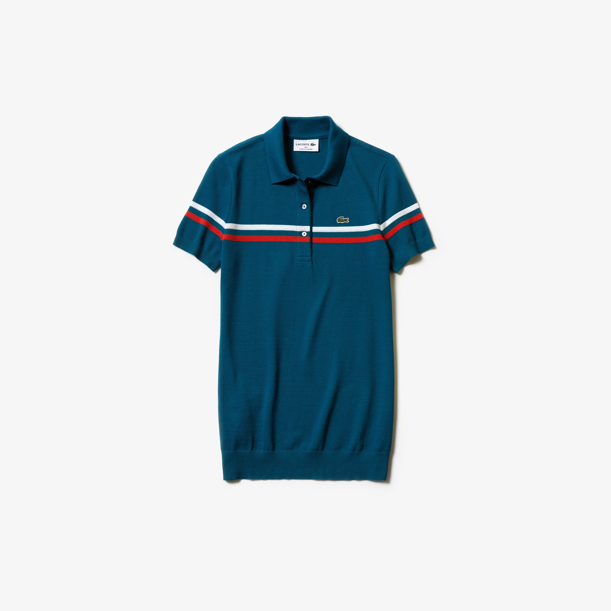 Polo Avec Slim Fit Rayures Made Coton Tricolores In France En Lacoste LMGVqSpUz