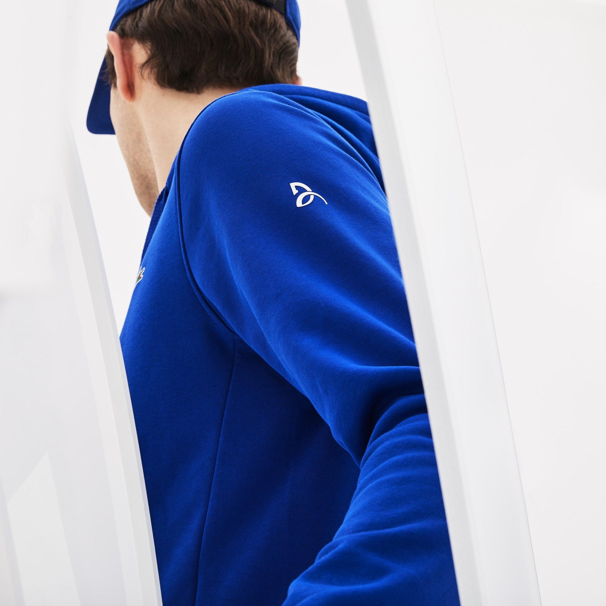 Zippé Sweatshirt Capuche Lacoste Djokovic X Imprimé Sport À Novak 7ygYbfvI6