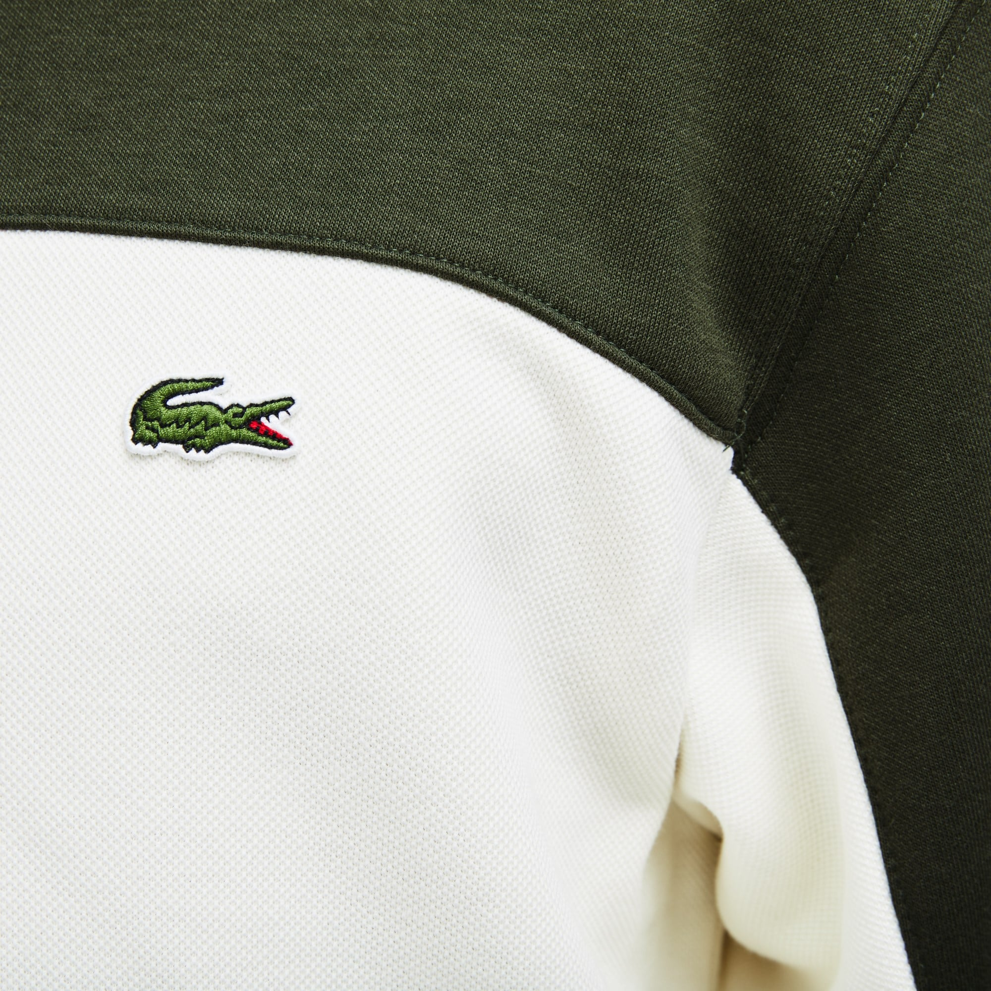 Rond Block Sweatshirt Color Col Molleton En Piqué N8wyvOmn0