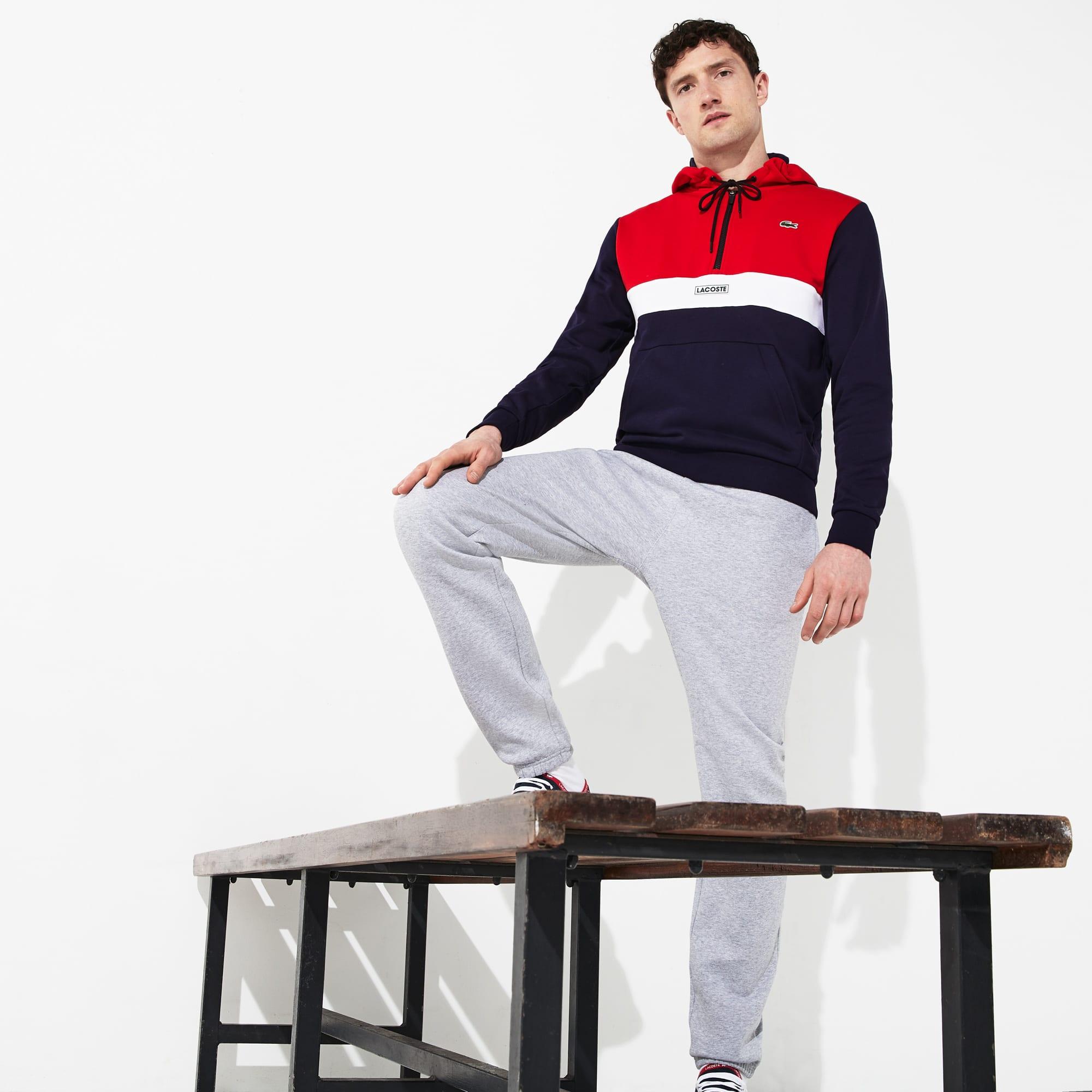 715fe90b10 Sweatshirt zippé à capuche Lacoste SPORT en molleton color-block ...