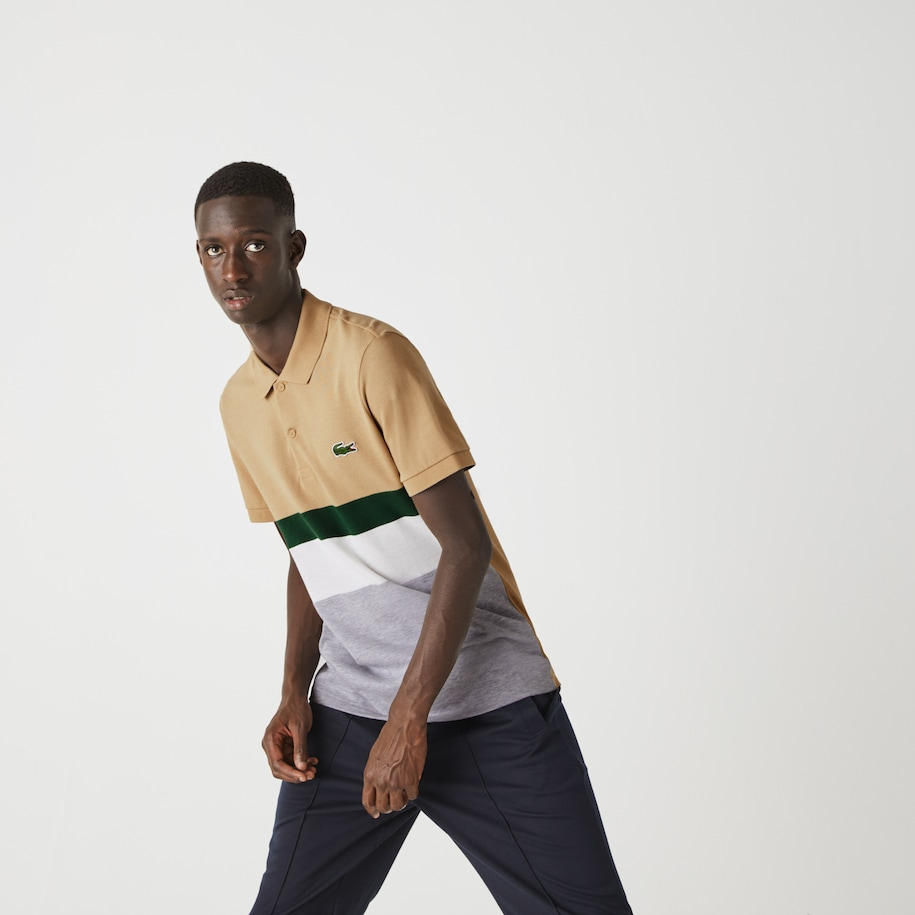 Polo Lacoste regular fit en piqué de coton color-block