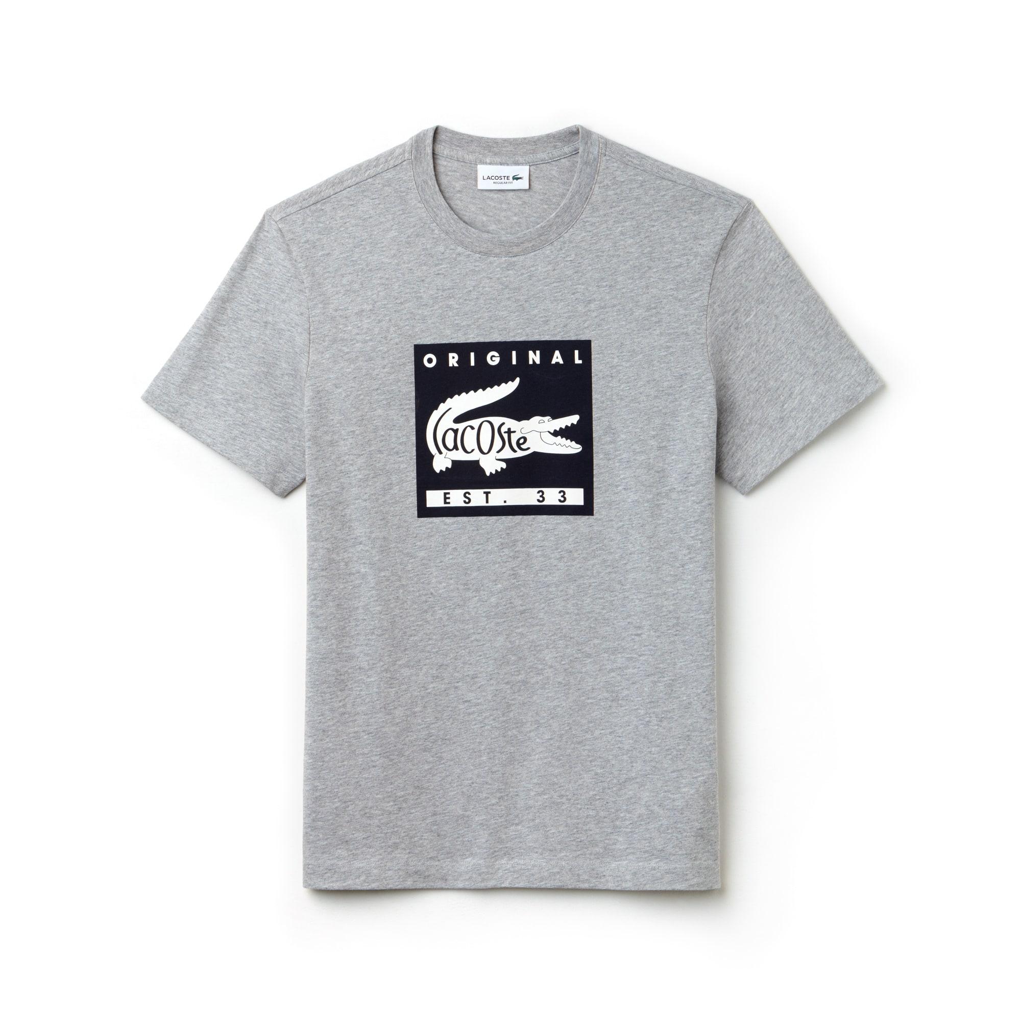 ... T-shirt col rond en jersey avec marquage Lacoste Original 5638a8ee90