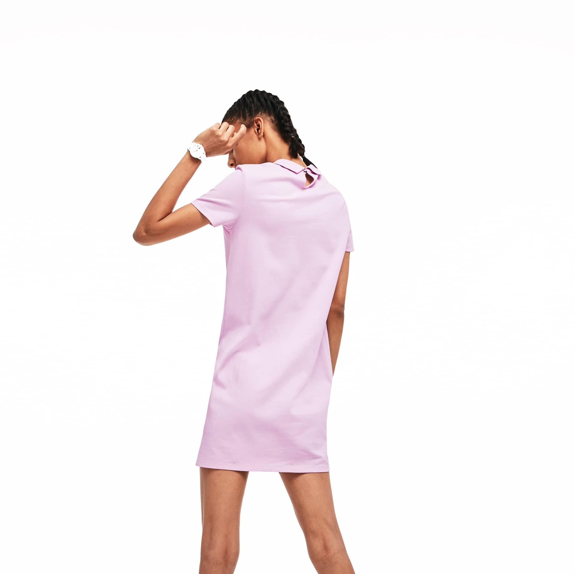 Ouverture Dos Avec Coton Robe En Live Polo Lacoste Stretch Au VMUSzpLqG