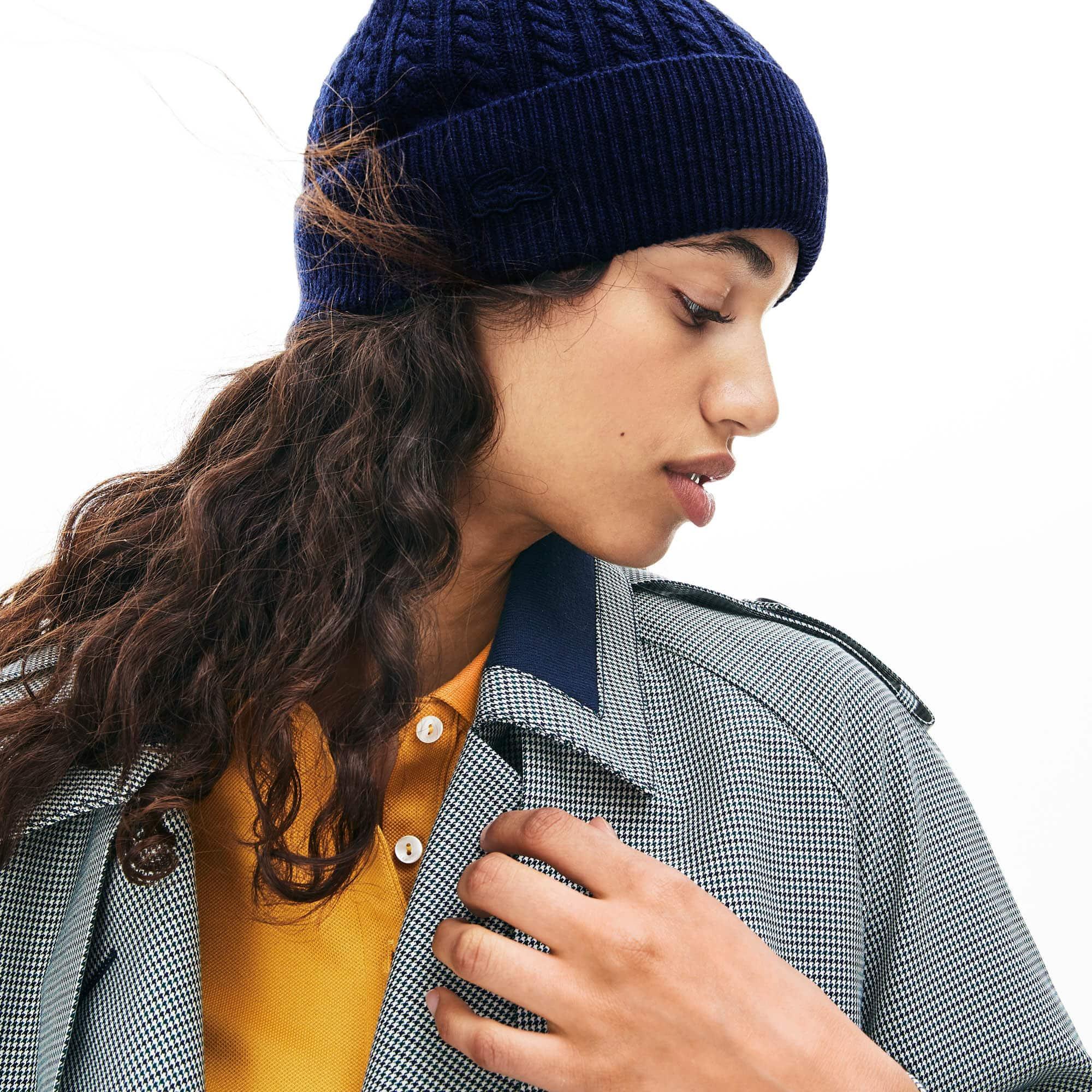 bonnet echarpe lacoste femme