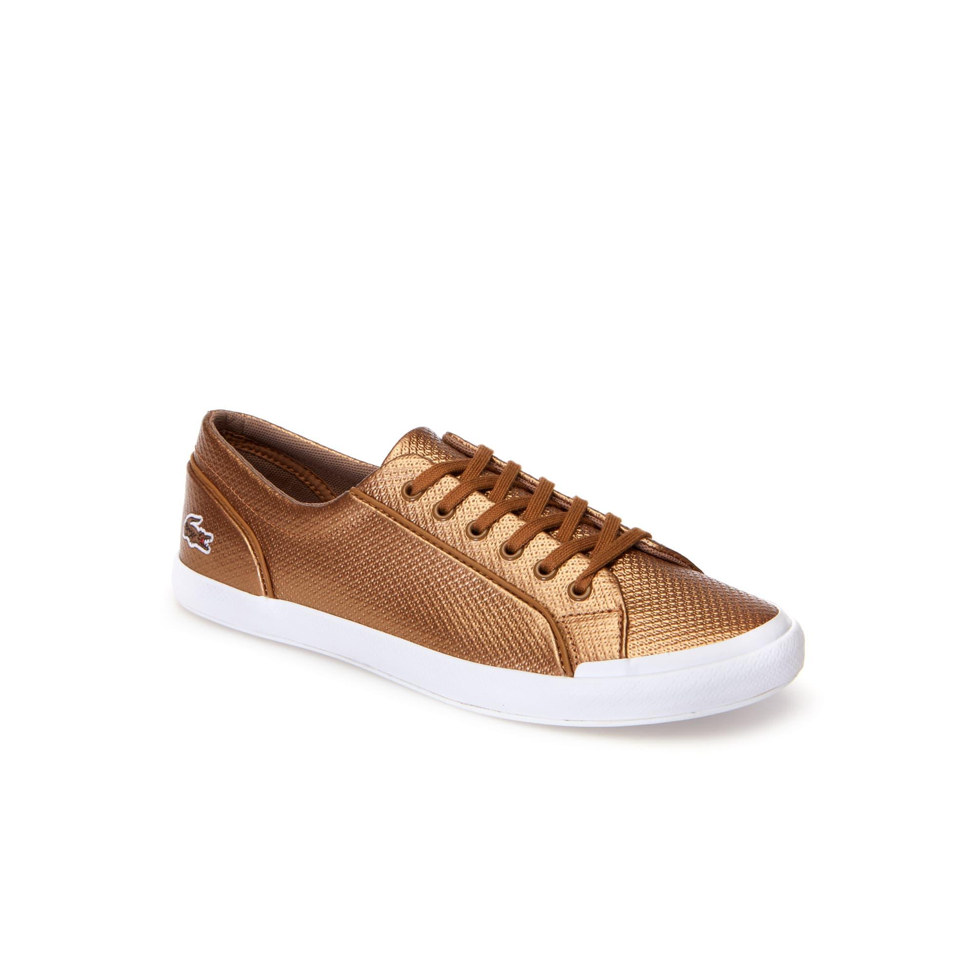 98cbe984aa Sneakers Lancelle Bronze femme Chantaco en cuir