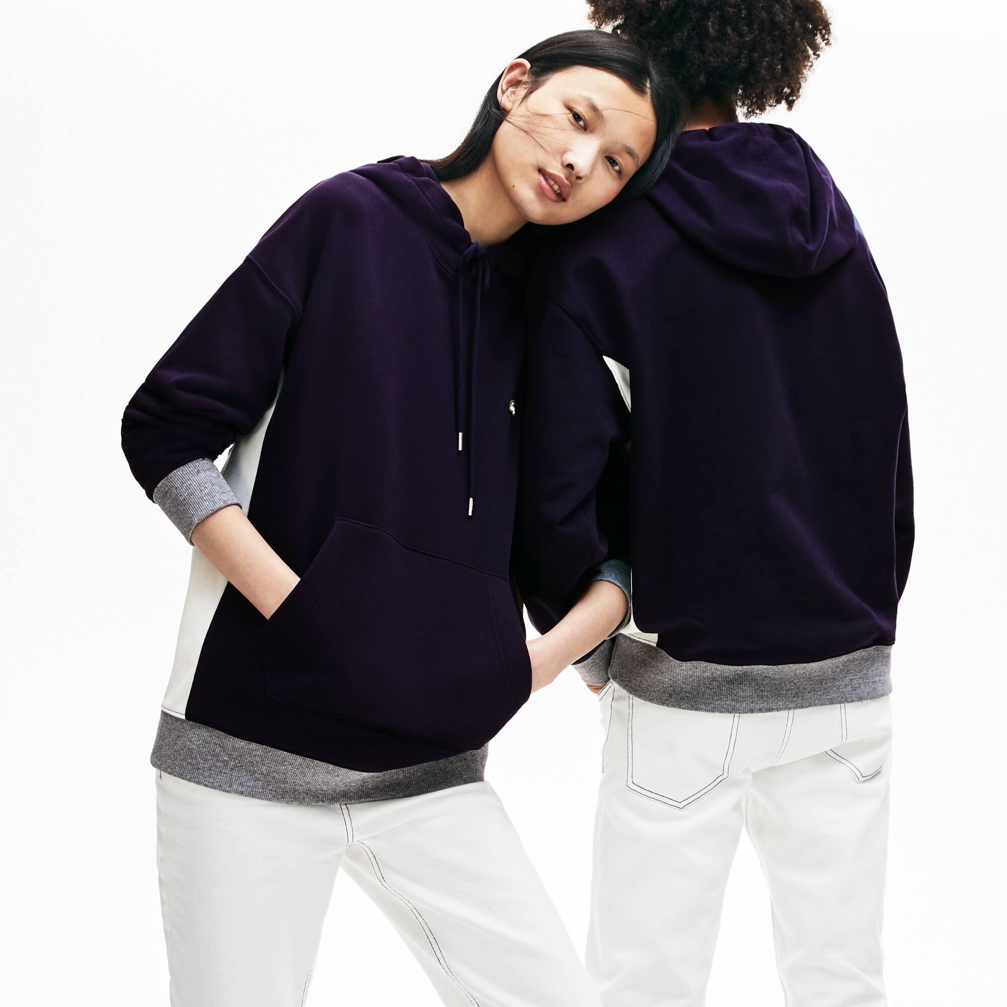 Sweatshirt à capuche unisexe Lacoste LIVE en coton uni bb89e5fa8b