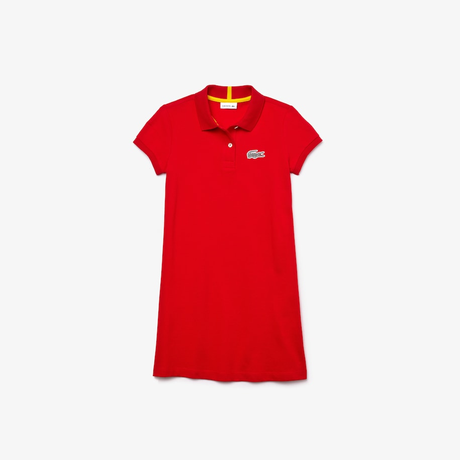 Robe polo Fille Lacoste x National Geographic en piqué de coton