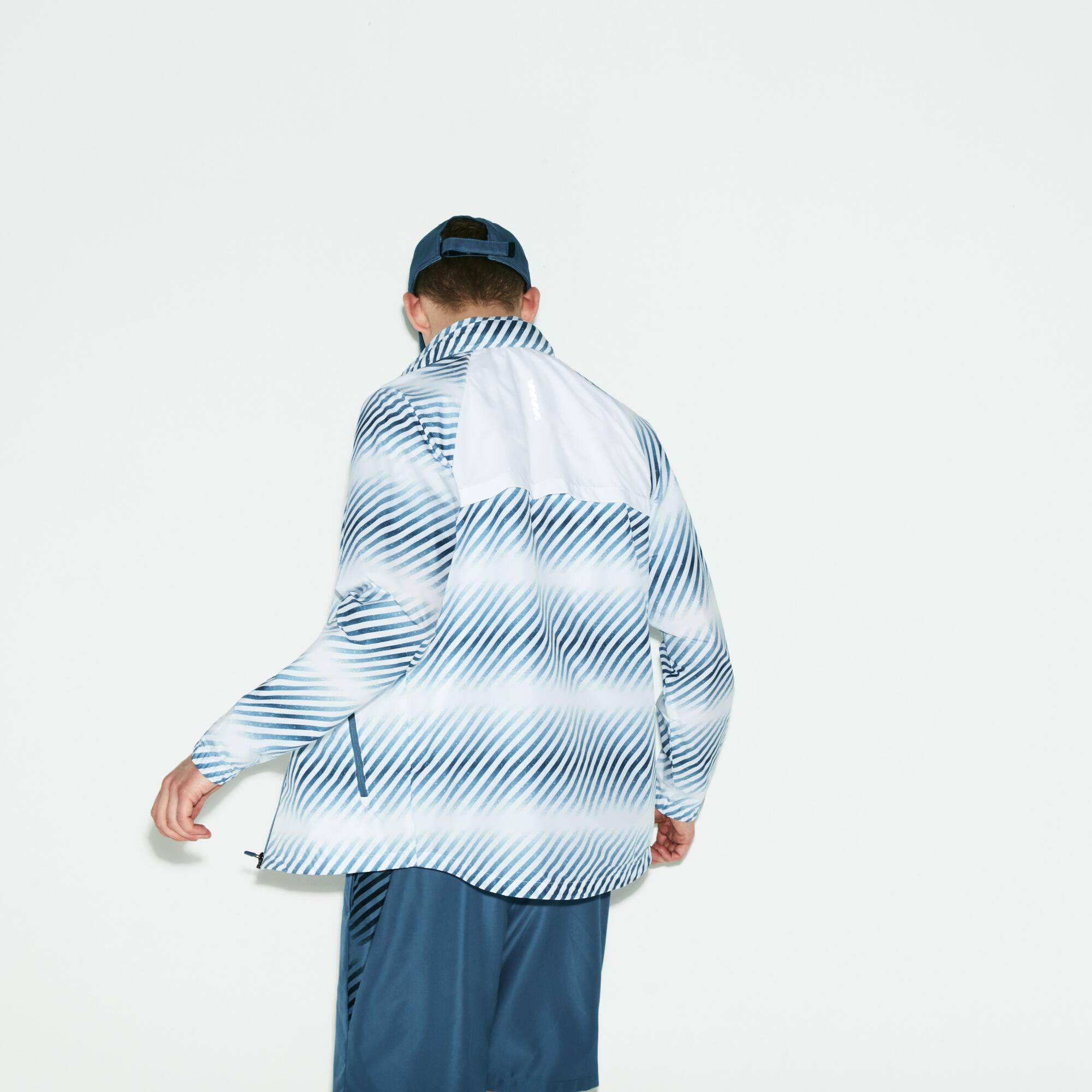 2fc4d327ee Veste Tennis imprimée à capuche contrastée Lacoste SPORT
