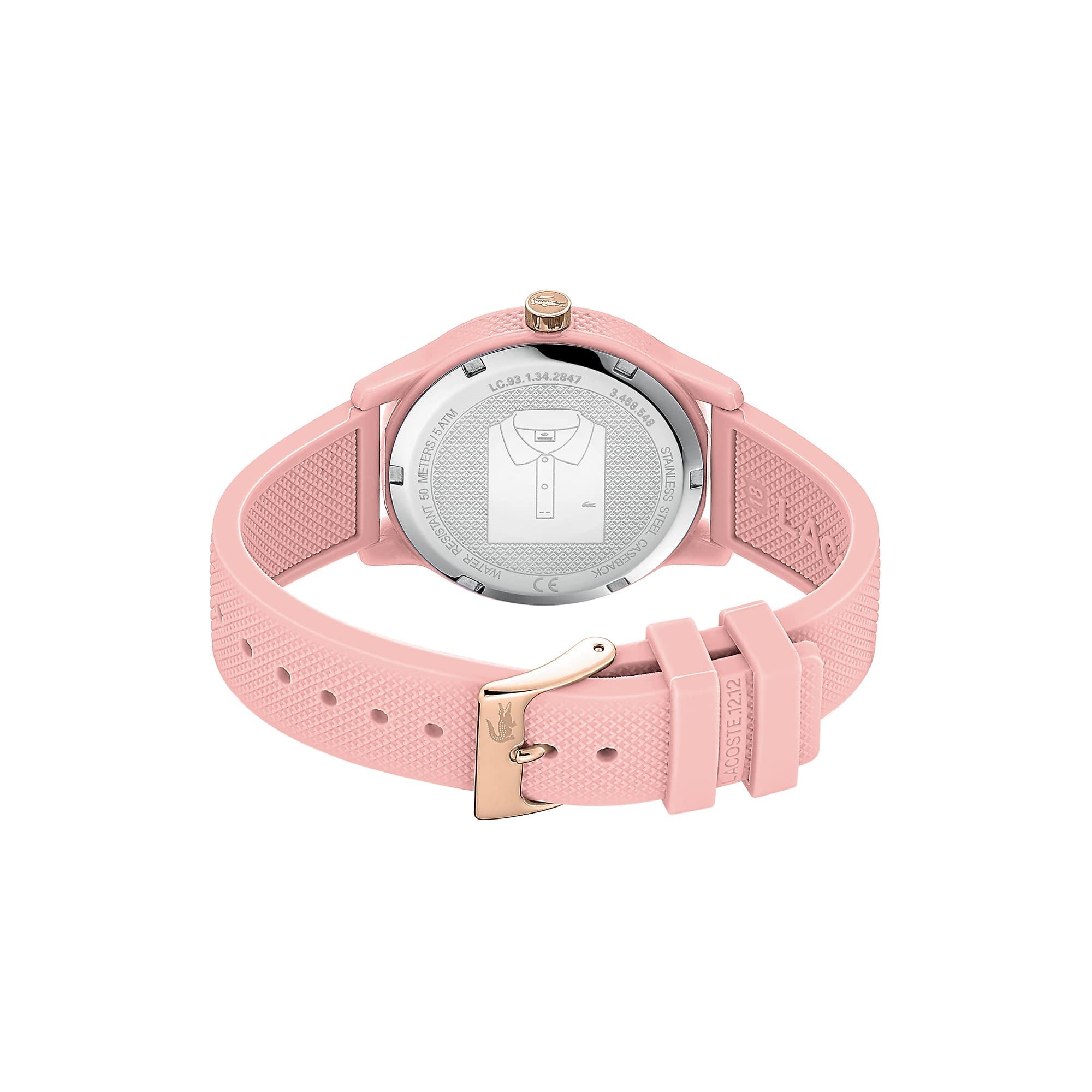 12 Silicone Montre 12 Femme Lacoste Petit Piqué Bracelet Rose Avec 3L4j5RqA