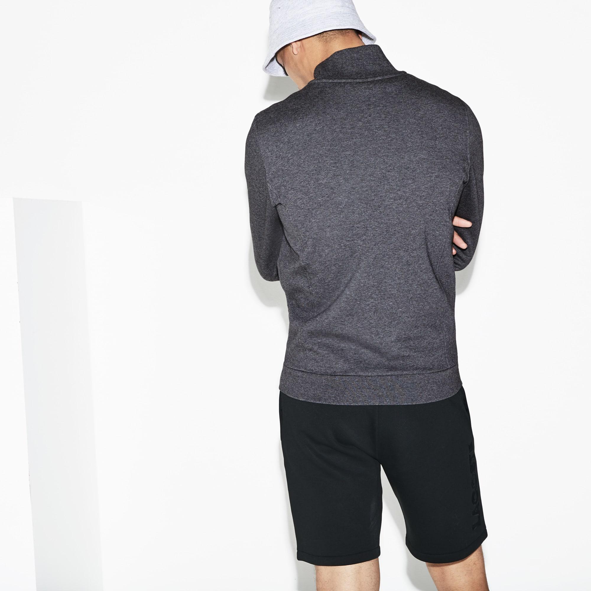 Zippé Molleton Sweatshirt En Sport Lacoste EwHq8