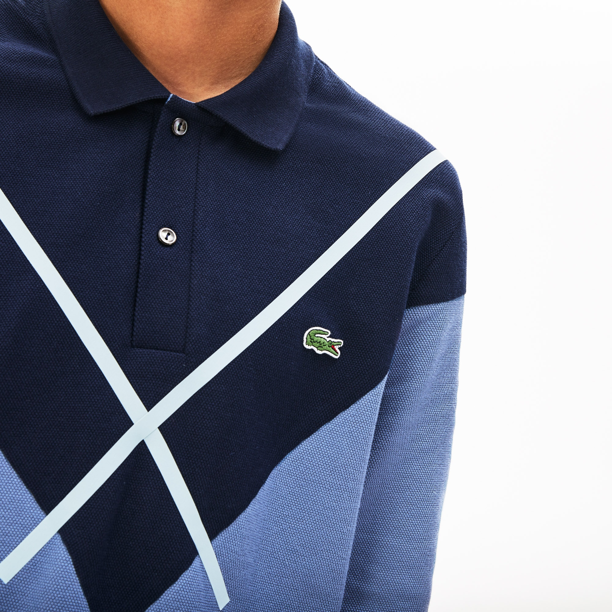 Polo regular fit Lacoste Made in France à manches longues