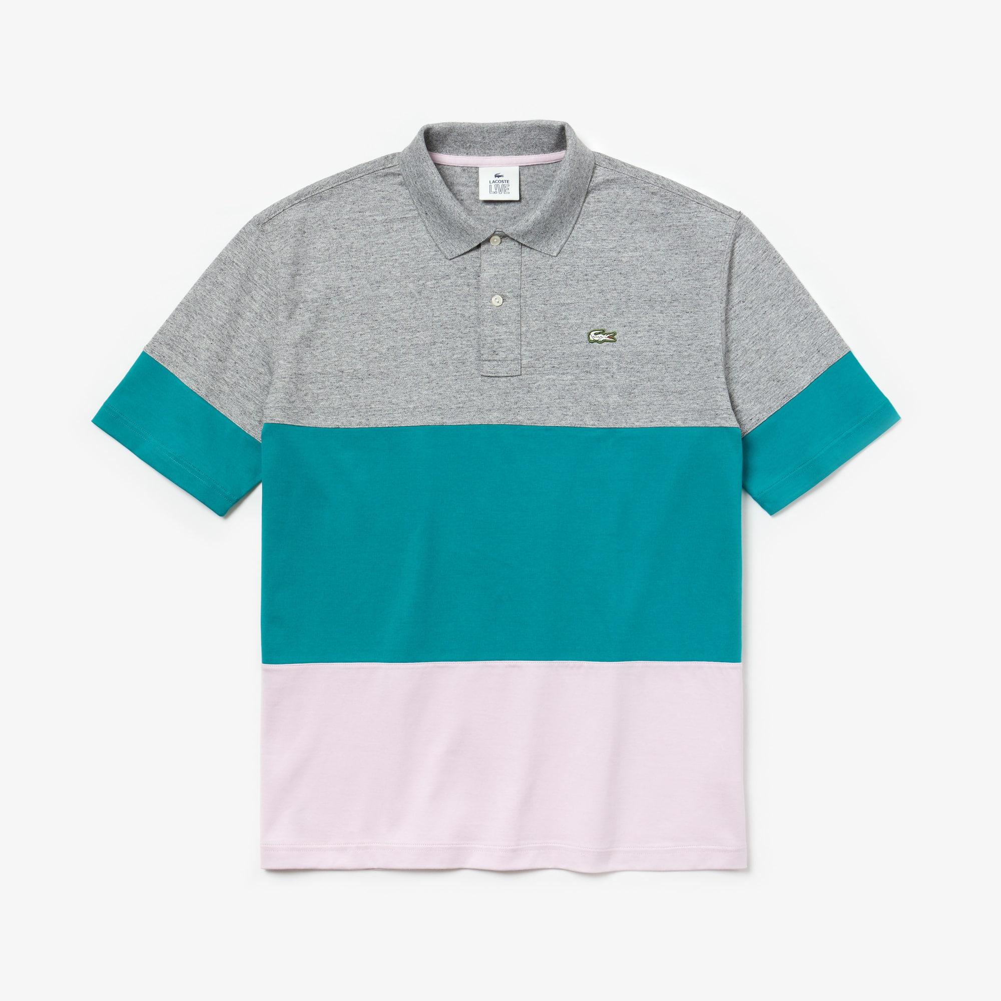 Fit Polo Live Block Coton Color En Loose Lacoste hstQdr