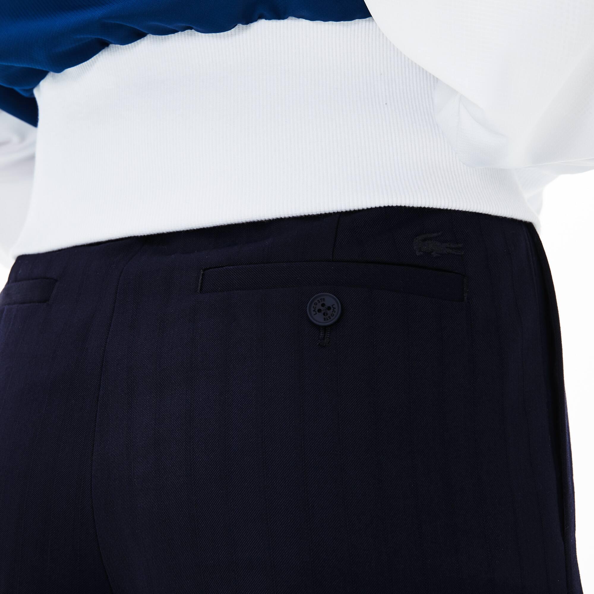 Pantalon En Seersucker De À Fit Coton Slim Cigarette CarreauxLacoste m0n8wvN