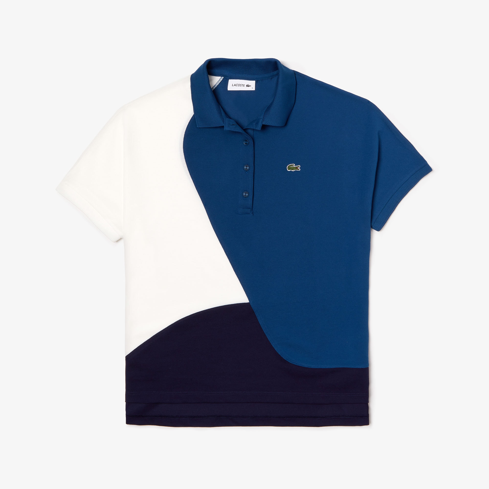Polo Lacoste en piqué thermorégulateur color-block