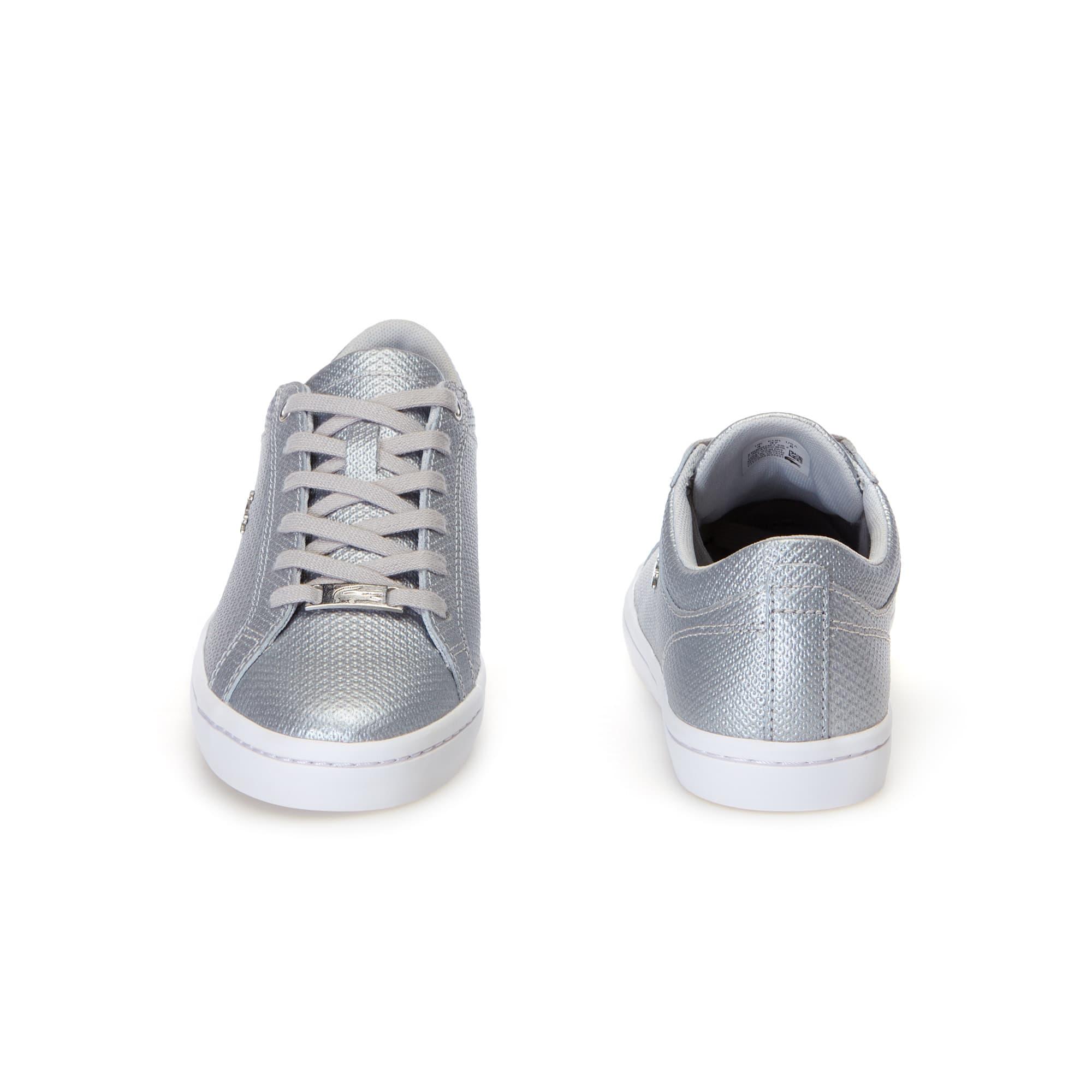 Chantaco Femme Straightset Sneakers En CuirLacoste lT1KFJc