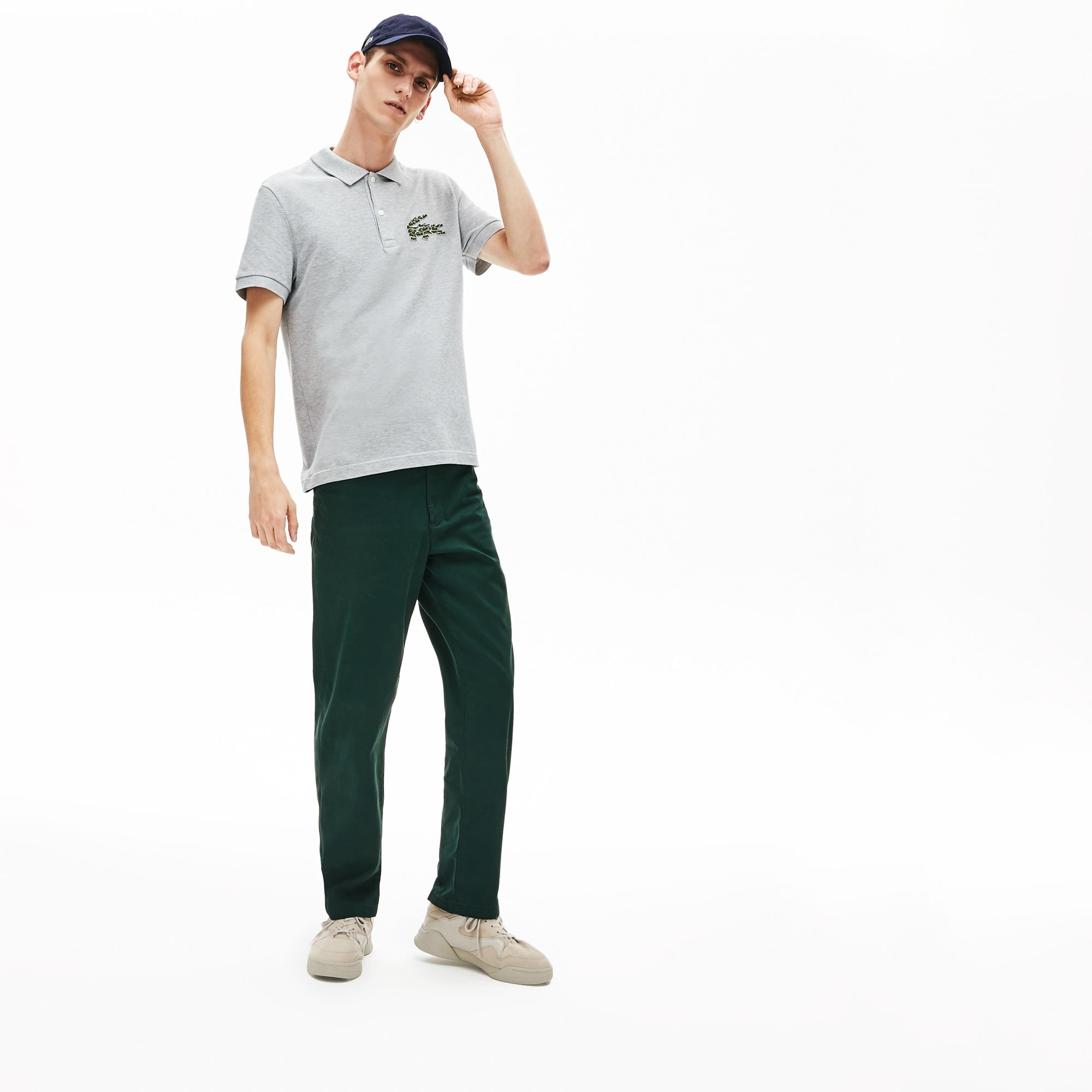 Polo regular fit Lacoste en piqué de coton avec badge multi croc