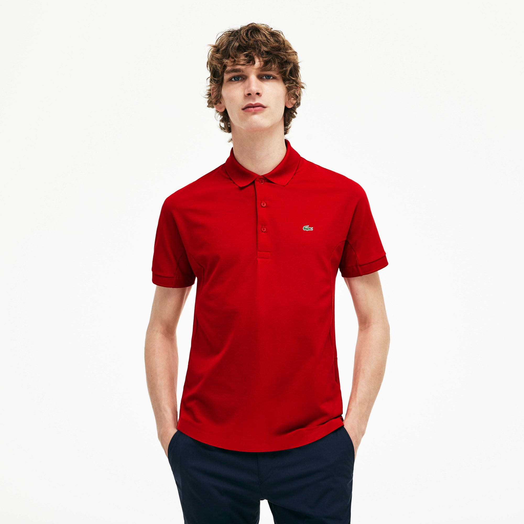 a7ec7454a22f73 Regular fit Lacoste polo, piqué, limited edition 85-jarig jubileum ...