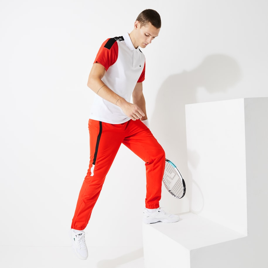 Lacoste SPORT-trainingsbroek heren licht met colorblock