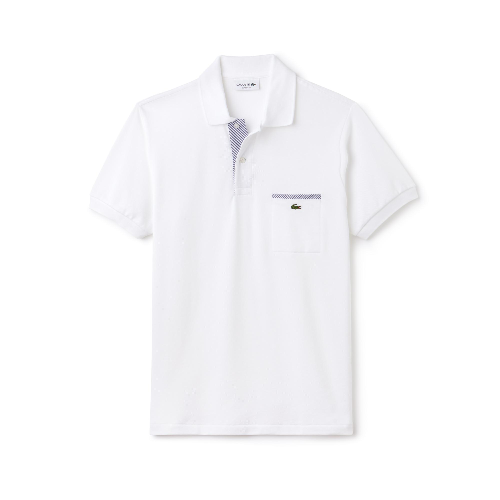 Camisa Polo Lacoste L.12.12 com Detalhes Contrastantes