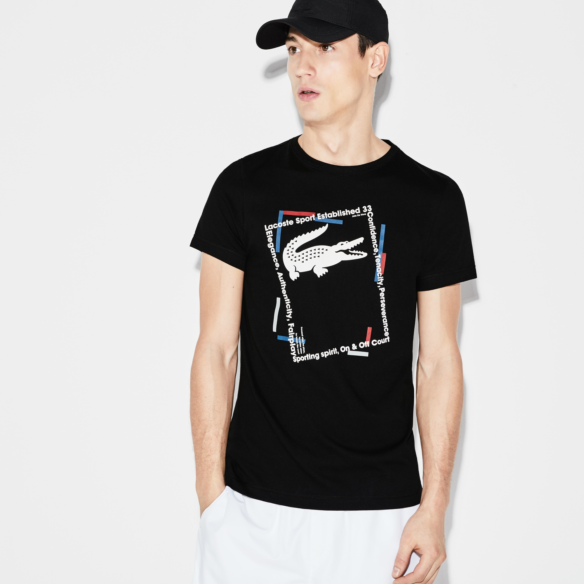 Camiseta Lacoste SPORT Tennis Masculina em Jérsei Técnico com Logo Lacoste