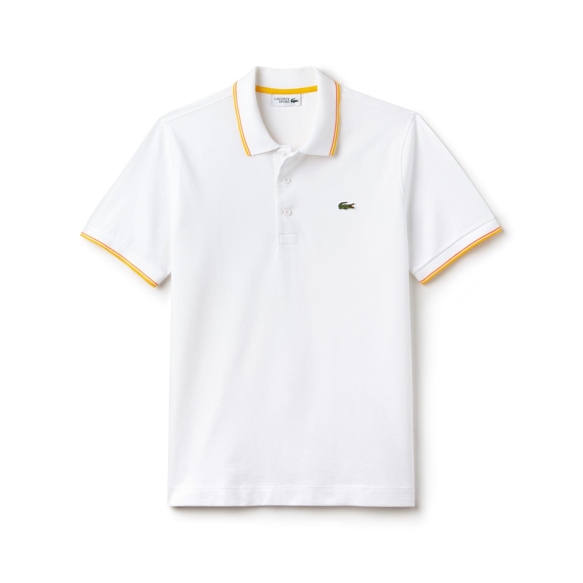87cc89a9c7 ... Camisa Polo Lacoste SPORT Masculina em Malha Ultraleve com Acabamento em  Vivo