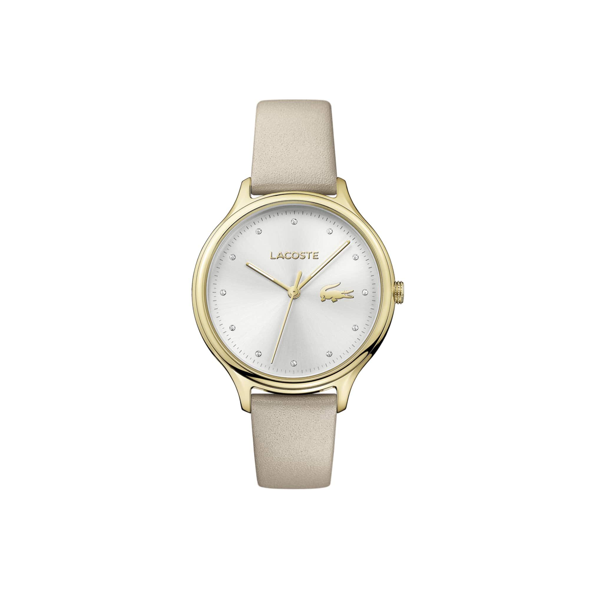 Relógio Constance Senhora com Bracelete em Couro Beige