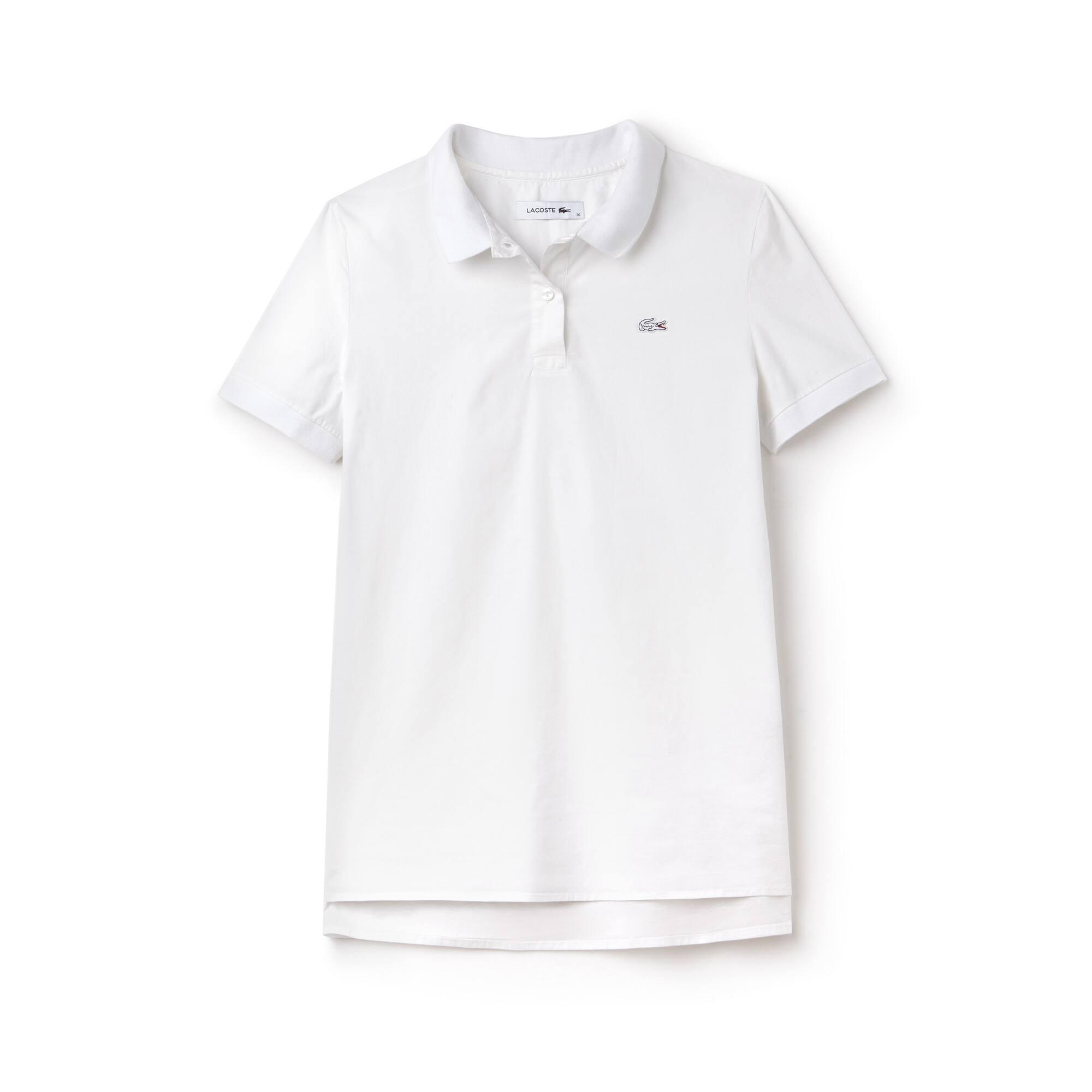 Camisa Lacoste Regular Fit Feminina em Popeline Stretch