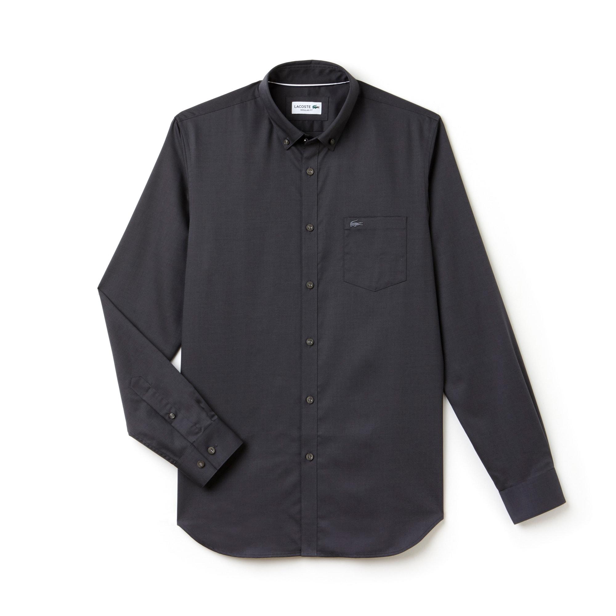 Camisa Regular Fit Masculina em Minipiqué